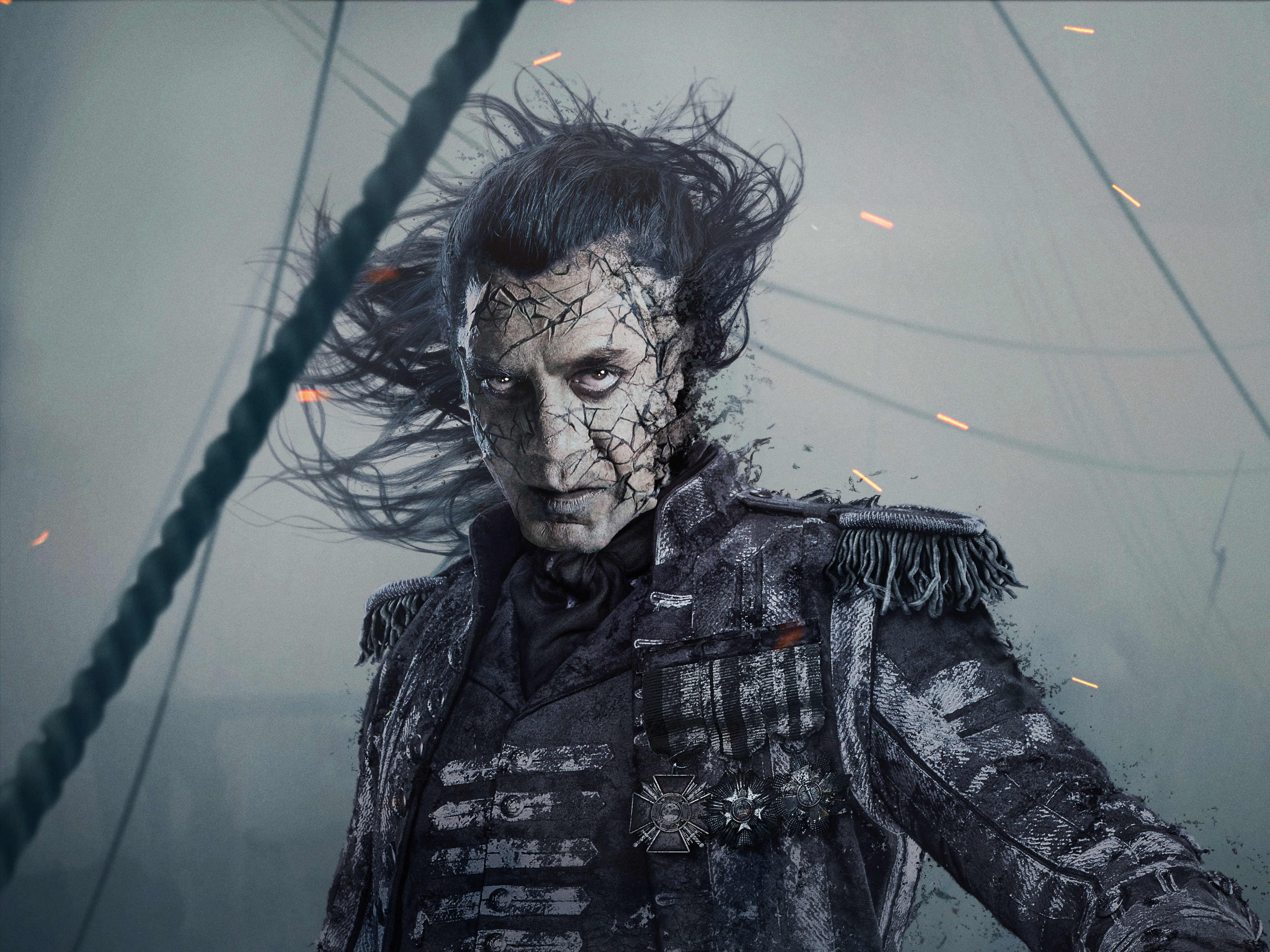 Dead Men Tell No Tales Wallpaper: 1080x1920 Captain Salaza In Pirates Of The Caribbean Dead