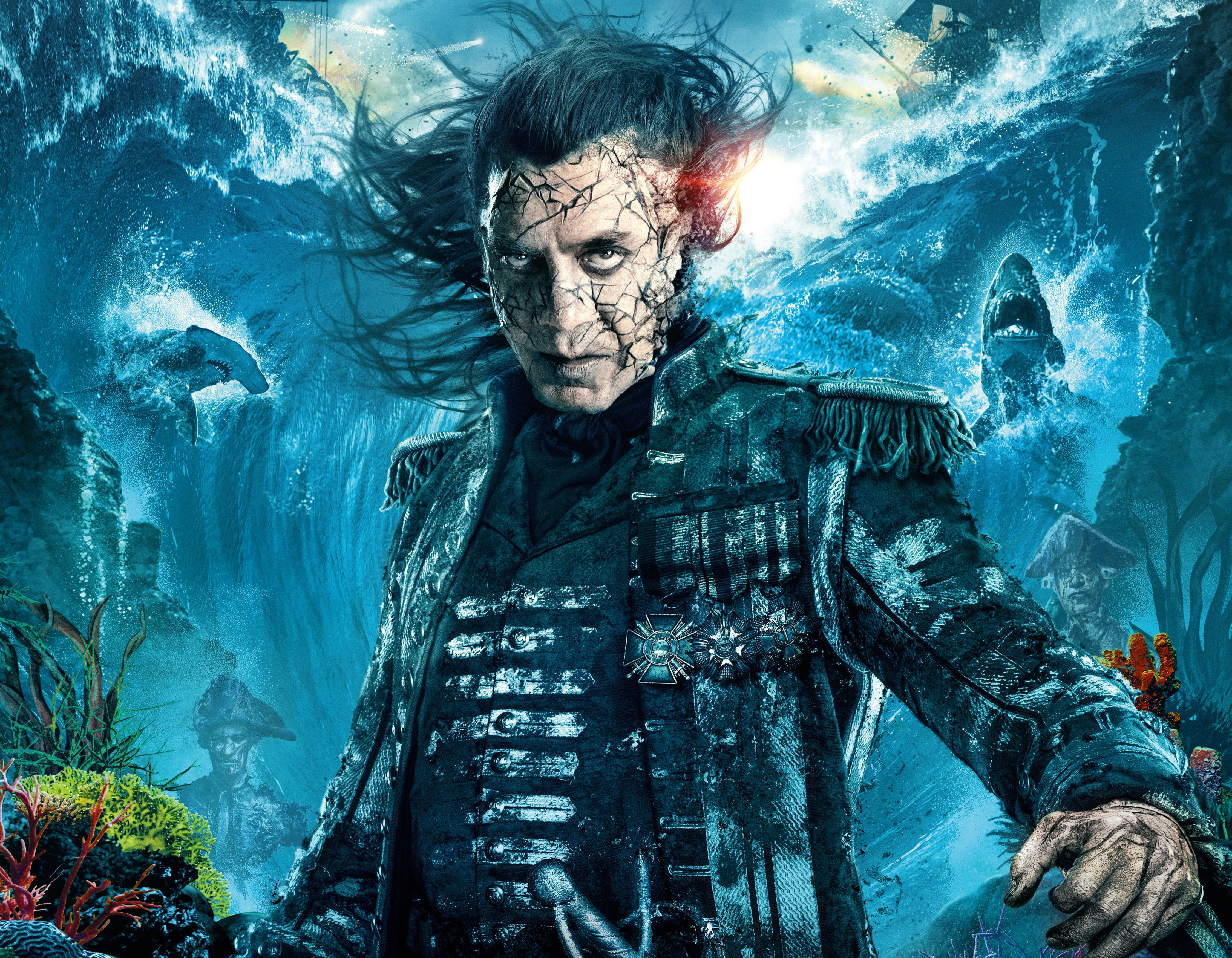 Captain Salaza In Pirates Of The Caribbean Dead Men Tell