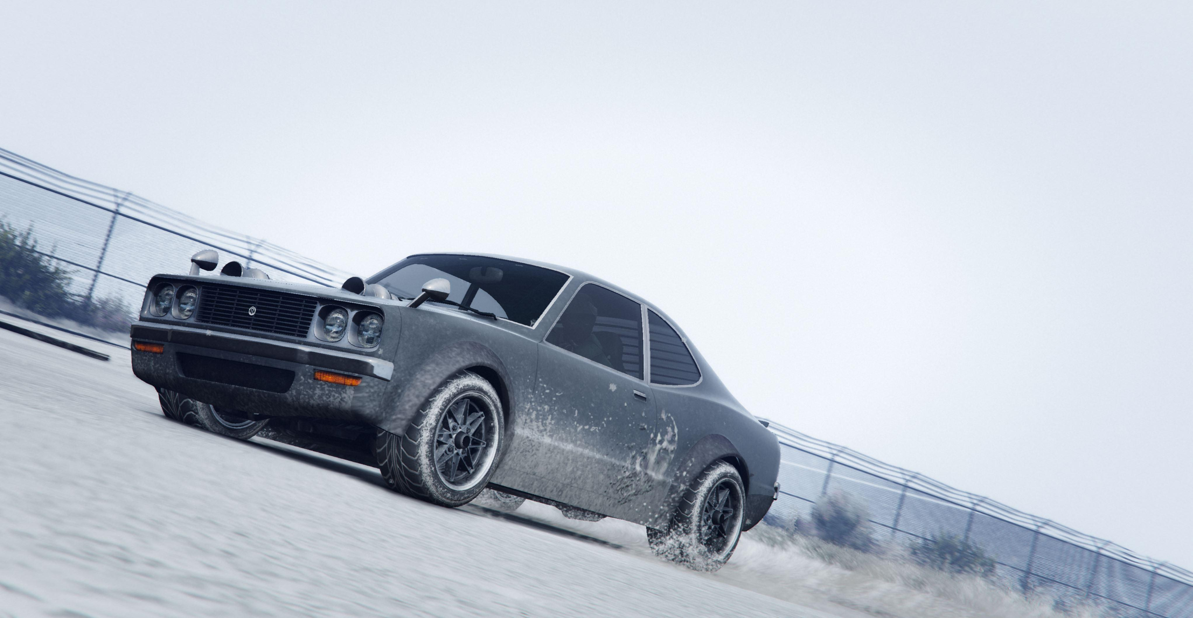 car in snow gta 5 4k, hd games, 4k wallpapers, images, backgrounds