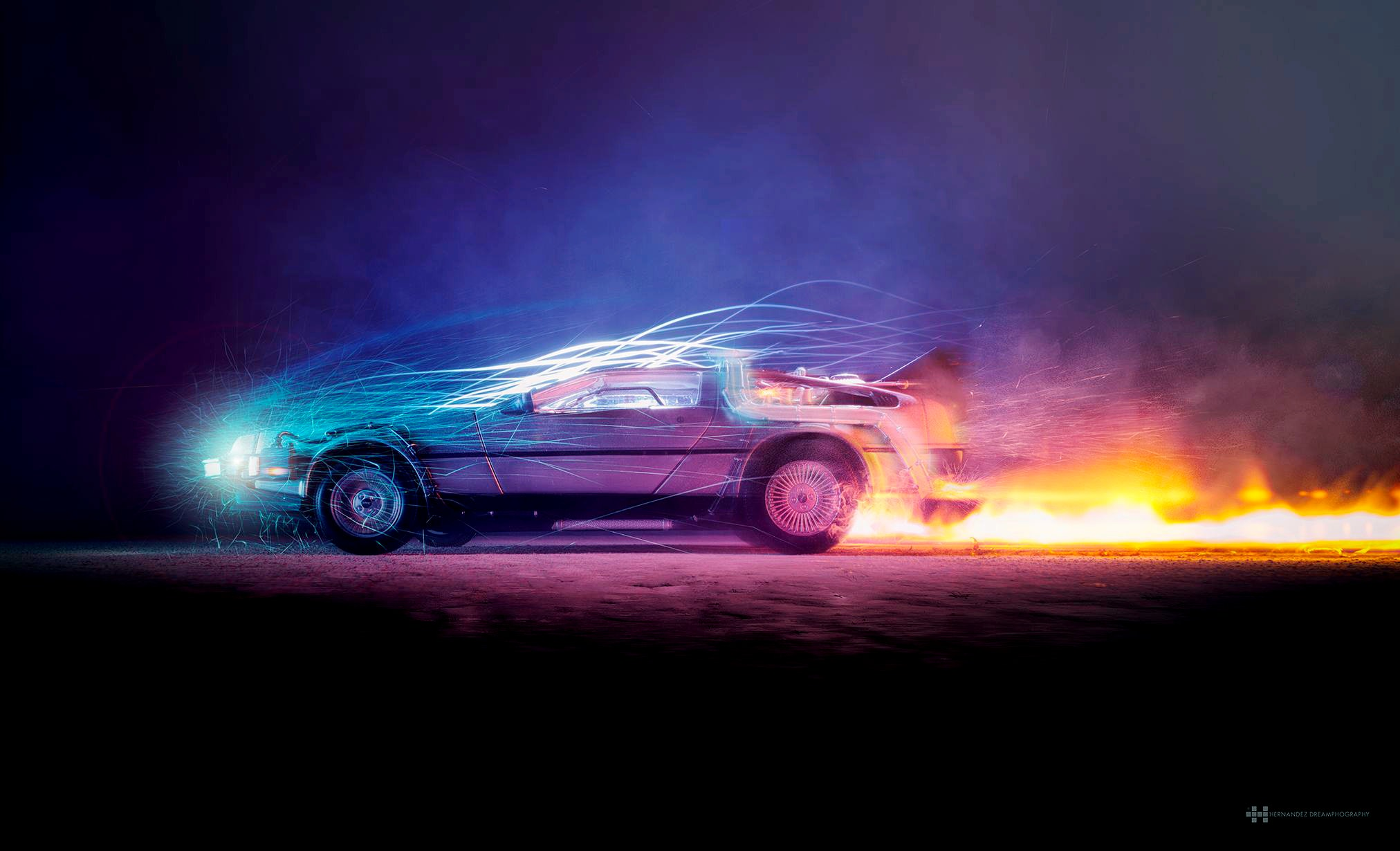 1125x2436 Car Lights Flame Back To The Future Iphone Xs Iphone 10