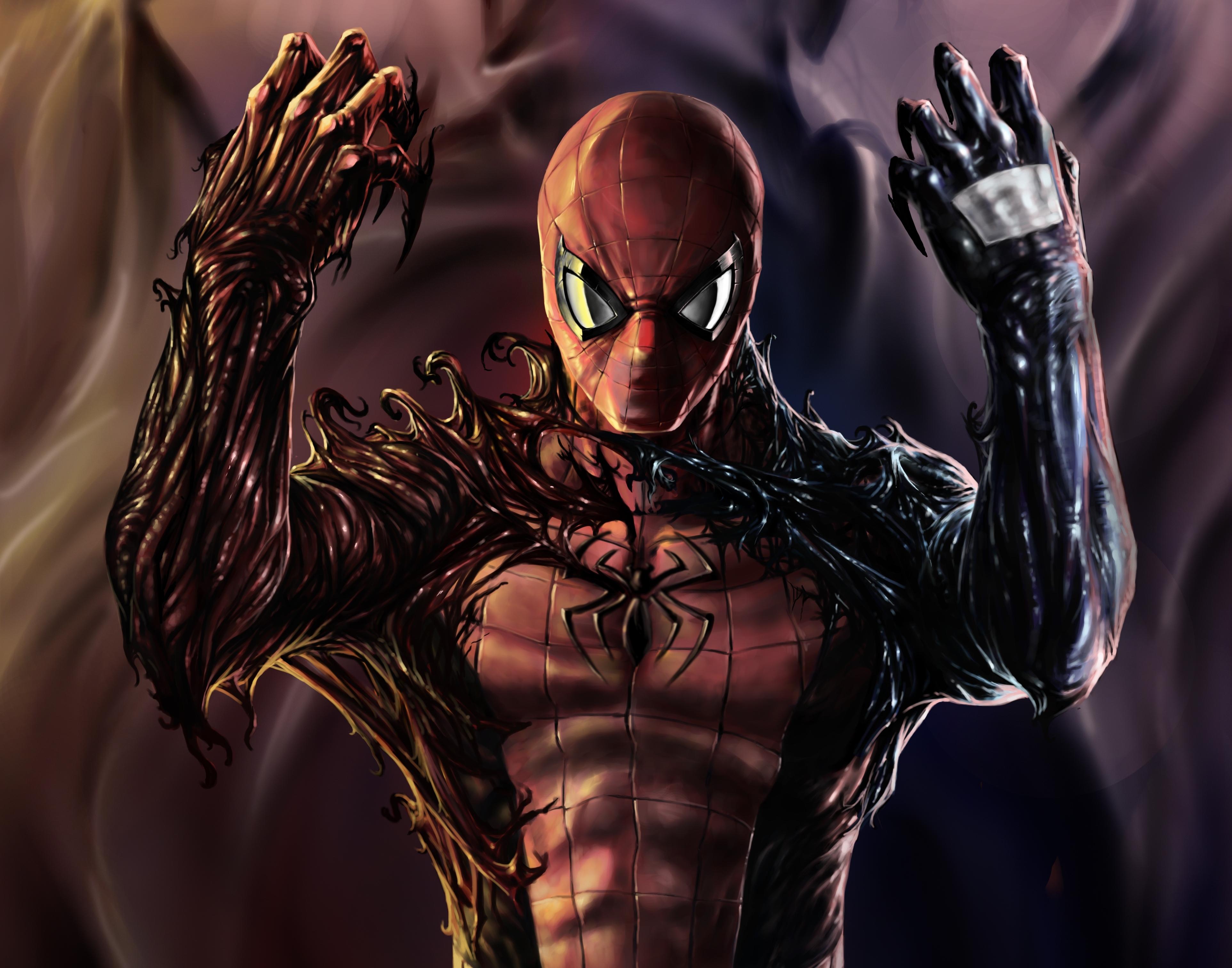Carnage Venom Spiderman Artwork, HD Superheroes, 4k ...