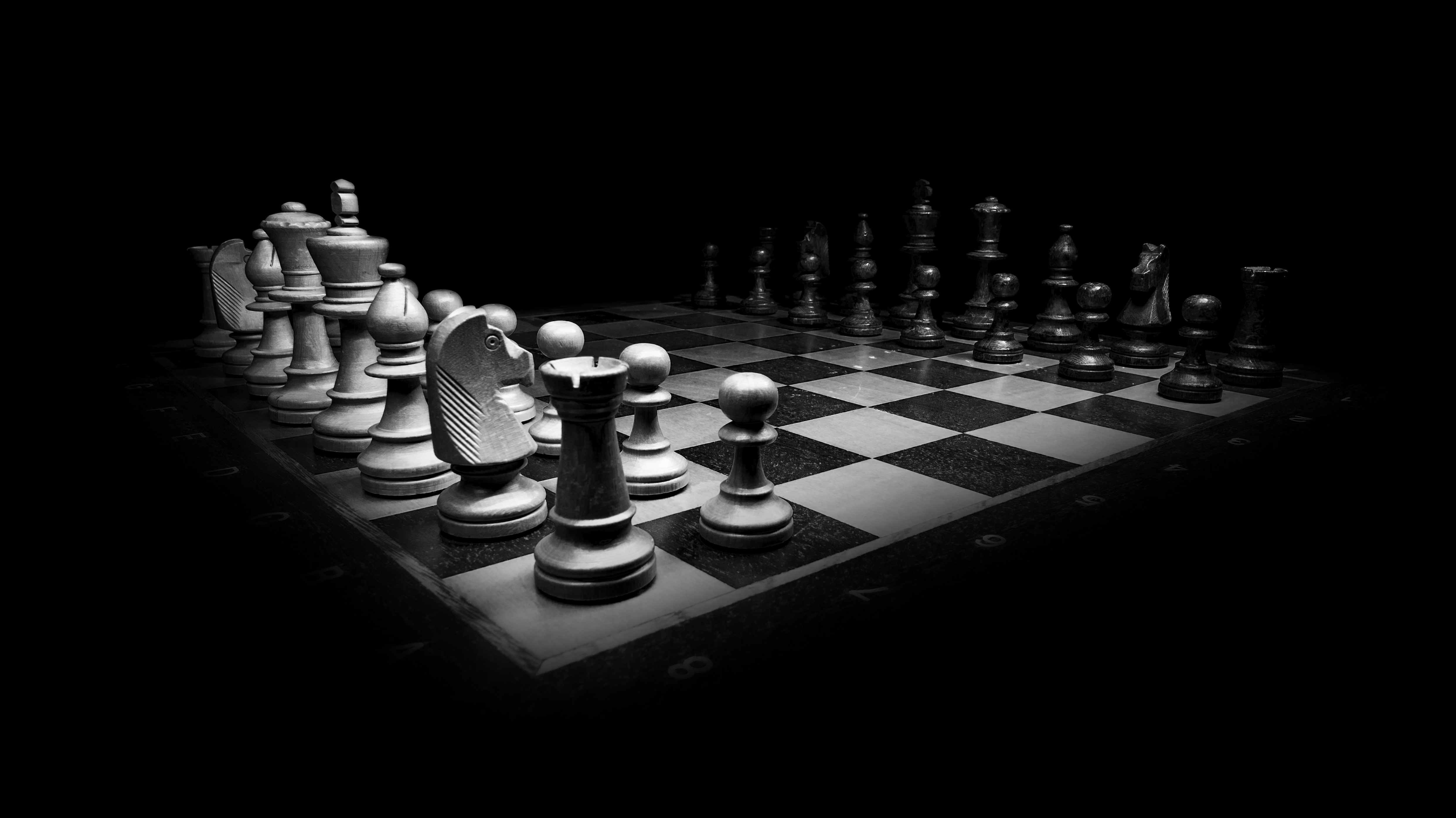 Chess Monochrome Hd Others 4k Wallpapers Images Backgrounds
