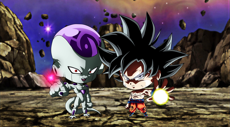 Ultra Instinct Goku Wallpaper 4k: 2048x1152 Chibi Frieza Goku Ultra Instinct Dragon Ball