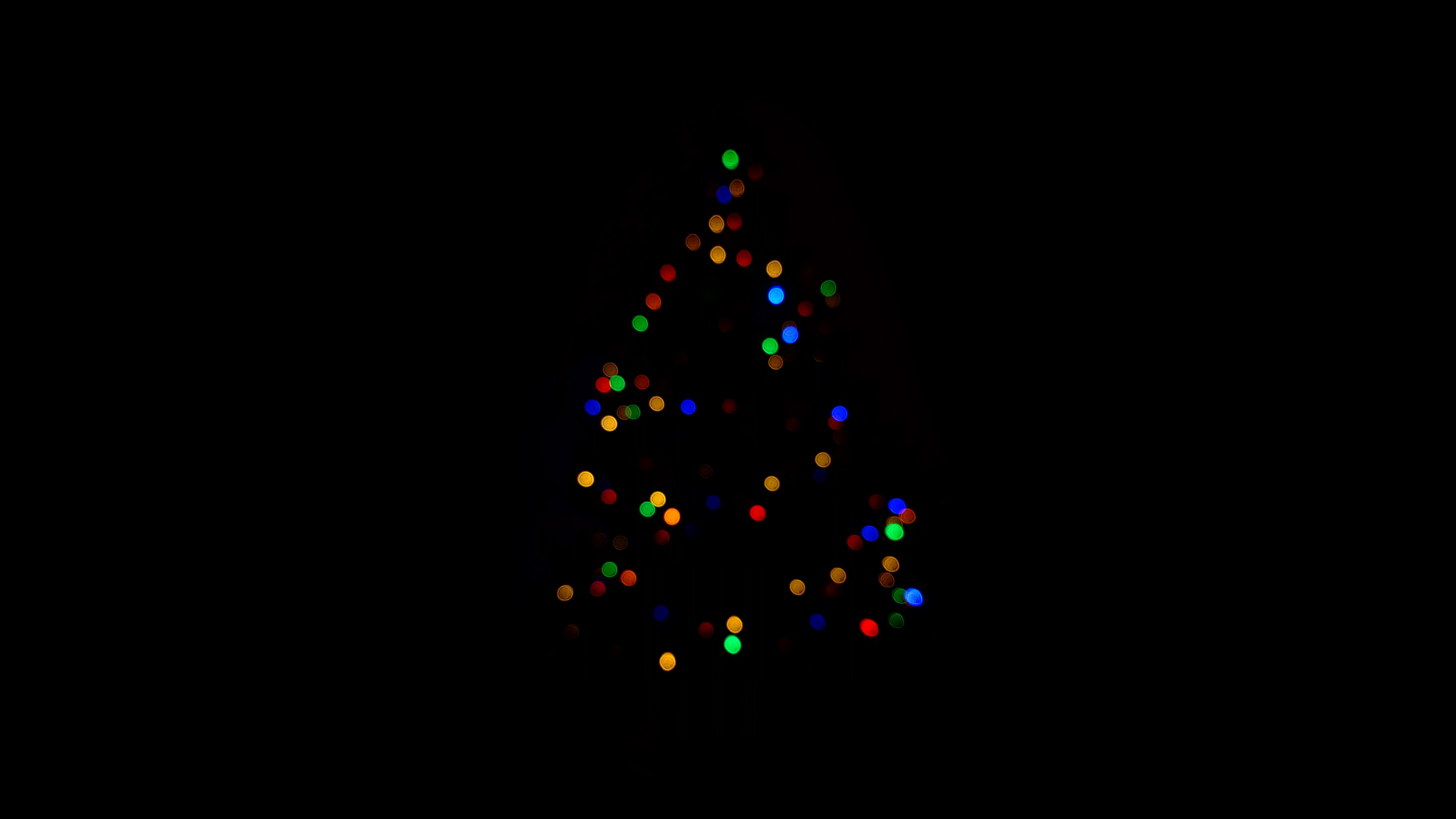 Dark Christmas.Christmas Tree Minimalism Dark 4k Hd Celebrations 4k