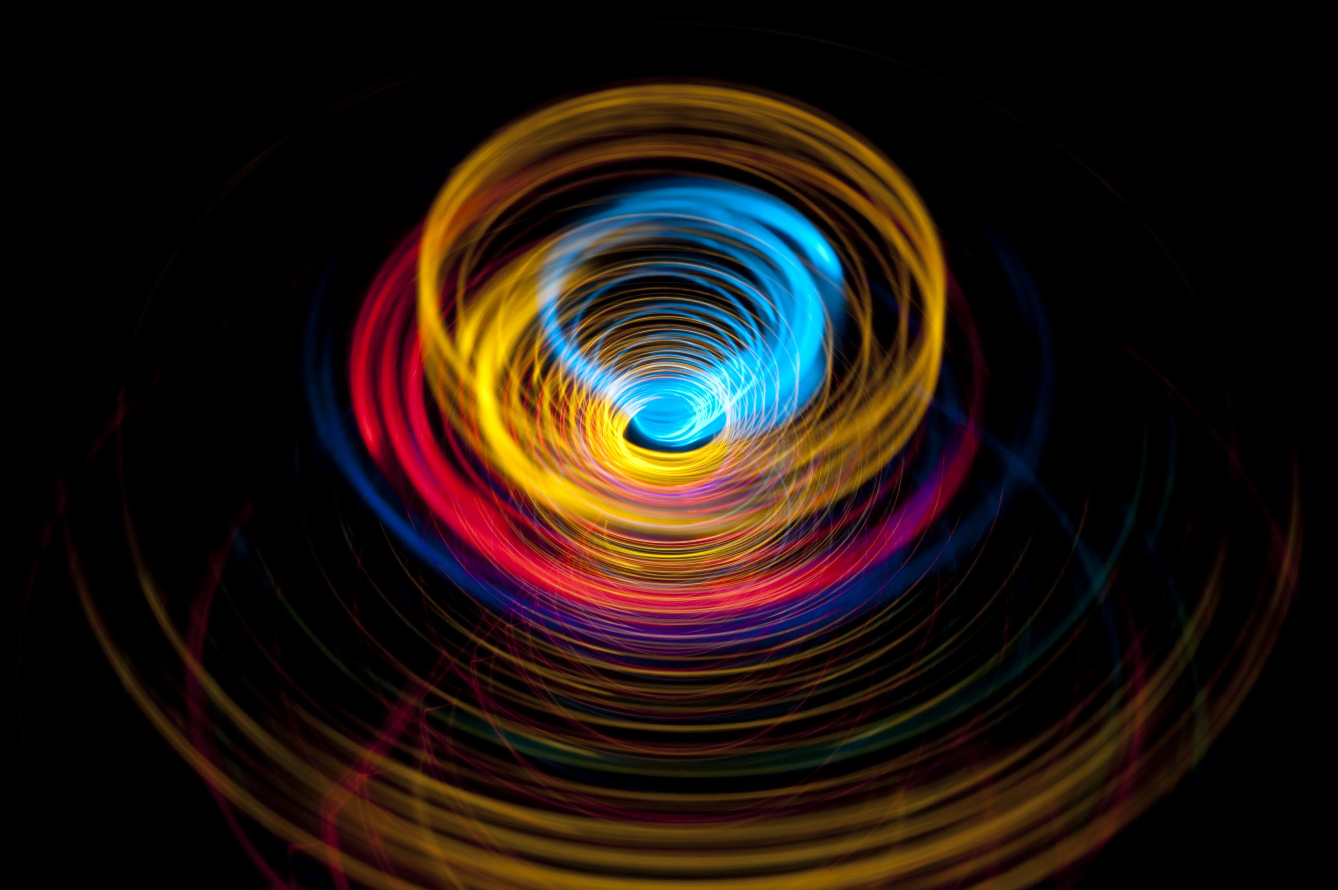 Circles Motion Rotation Abstract Colorful 4k, HD Abstract ...
