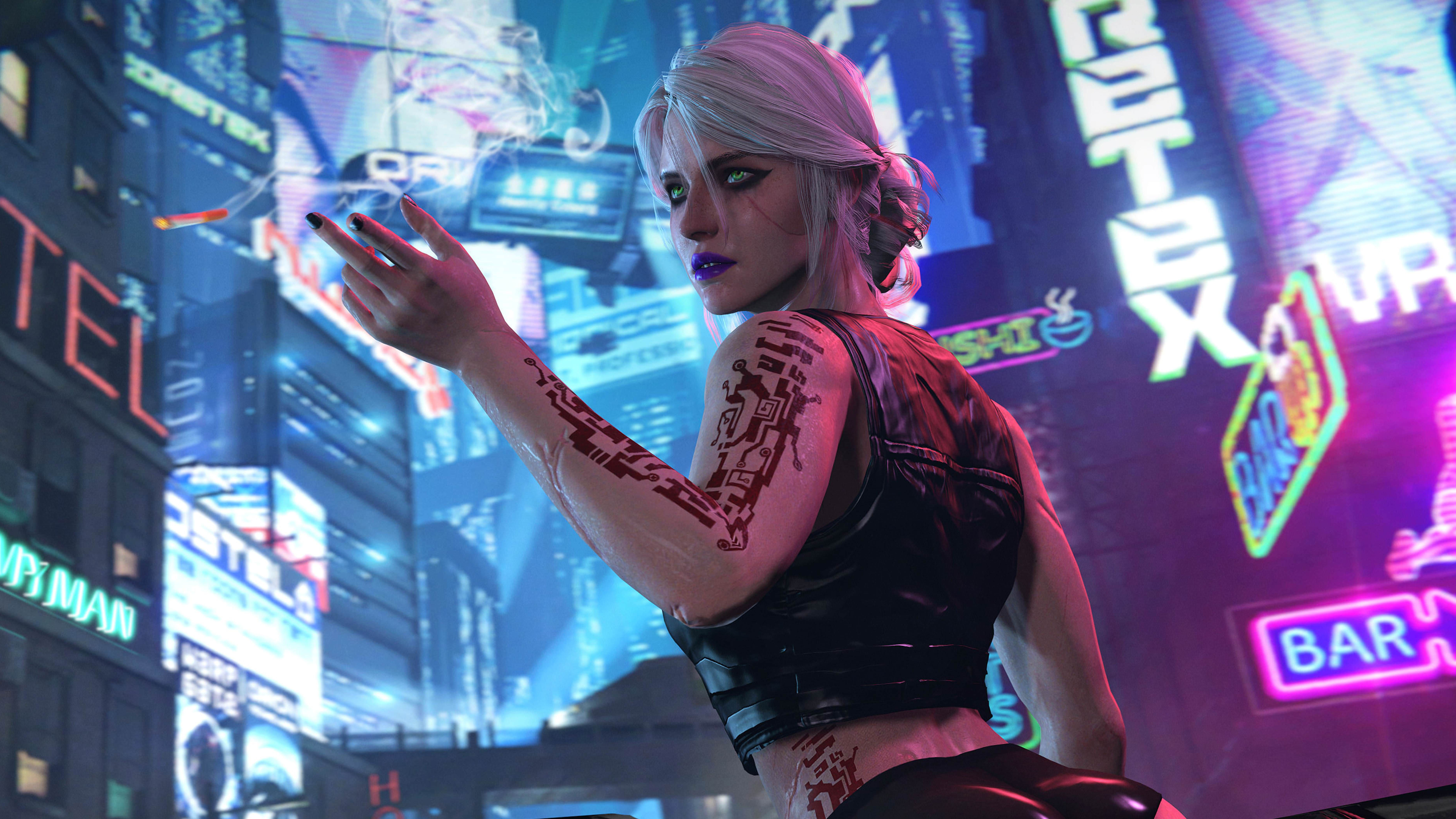 Ciri Cyberpunk 2077, HD Games, 4k Wallpapers, Images