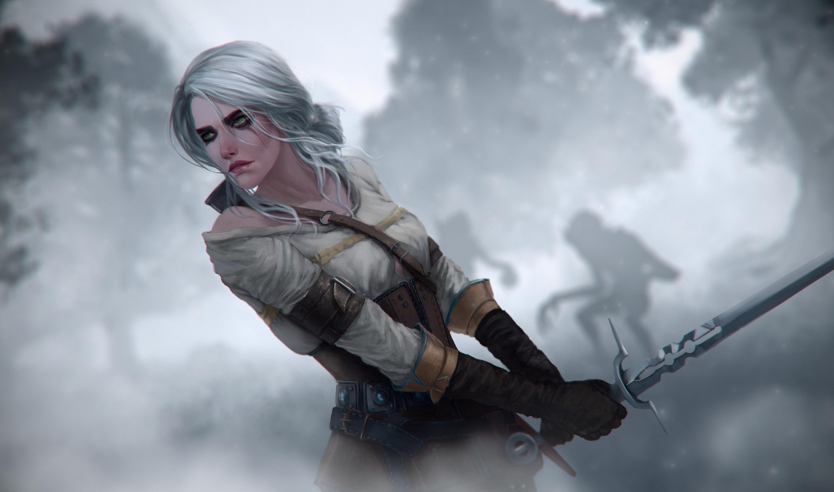 Ciri The Witcher 3 Digital Art 4k, HD Games, 4k Wallpapers ...
