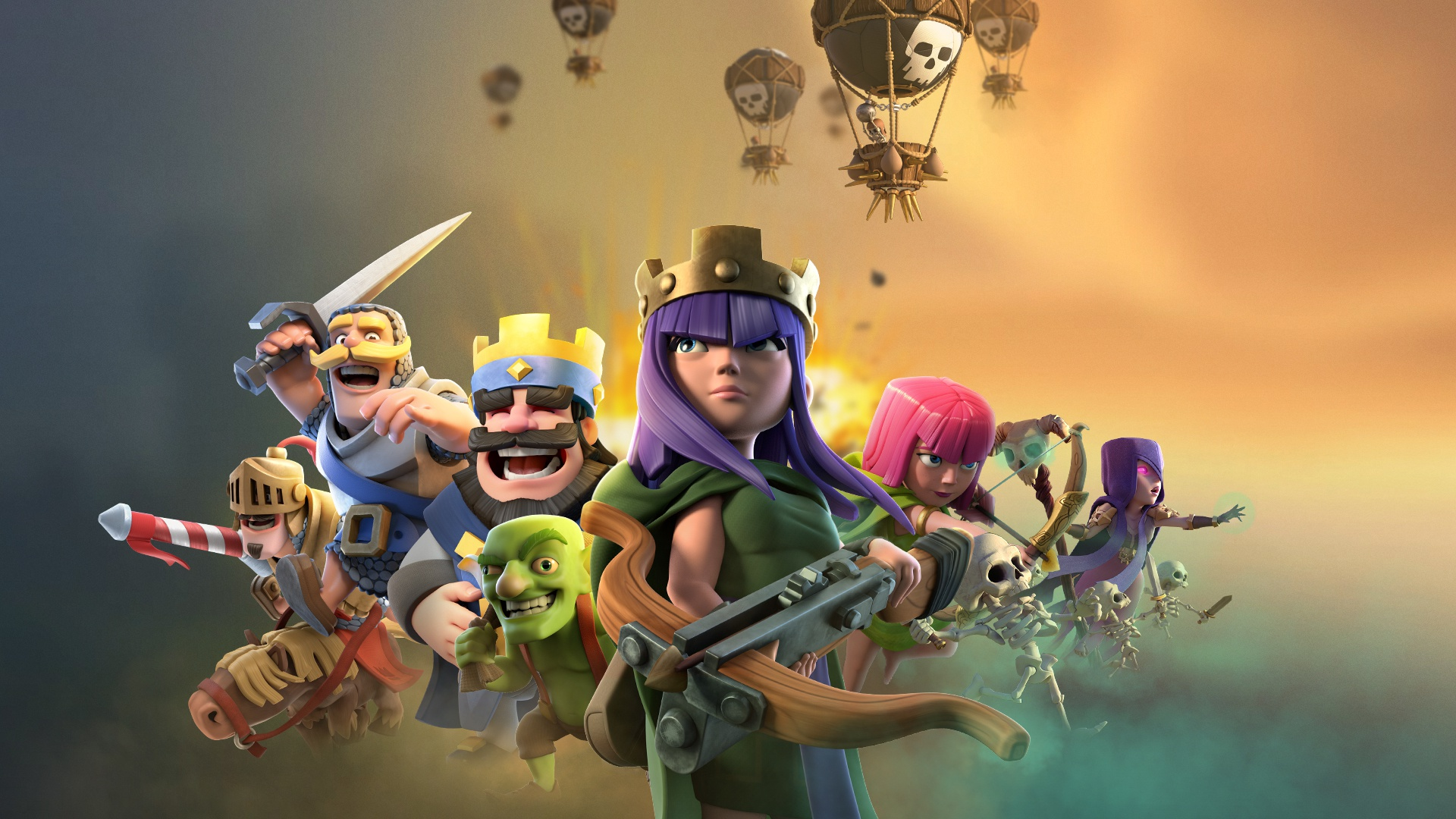 2048x1152 Clash Of Clans Clash Royale Supercell Games ...
