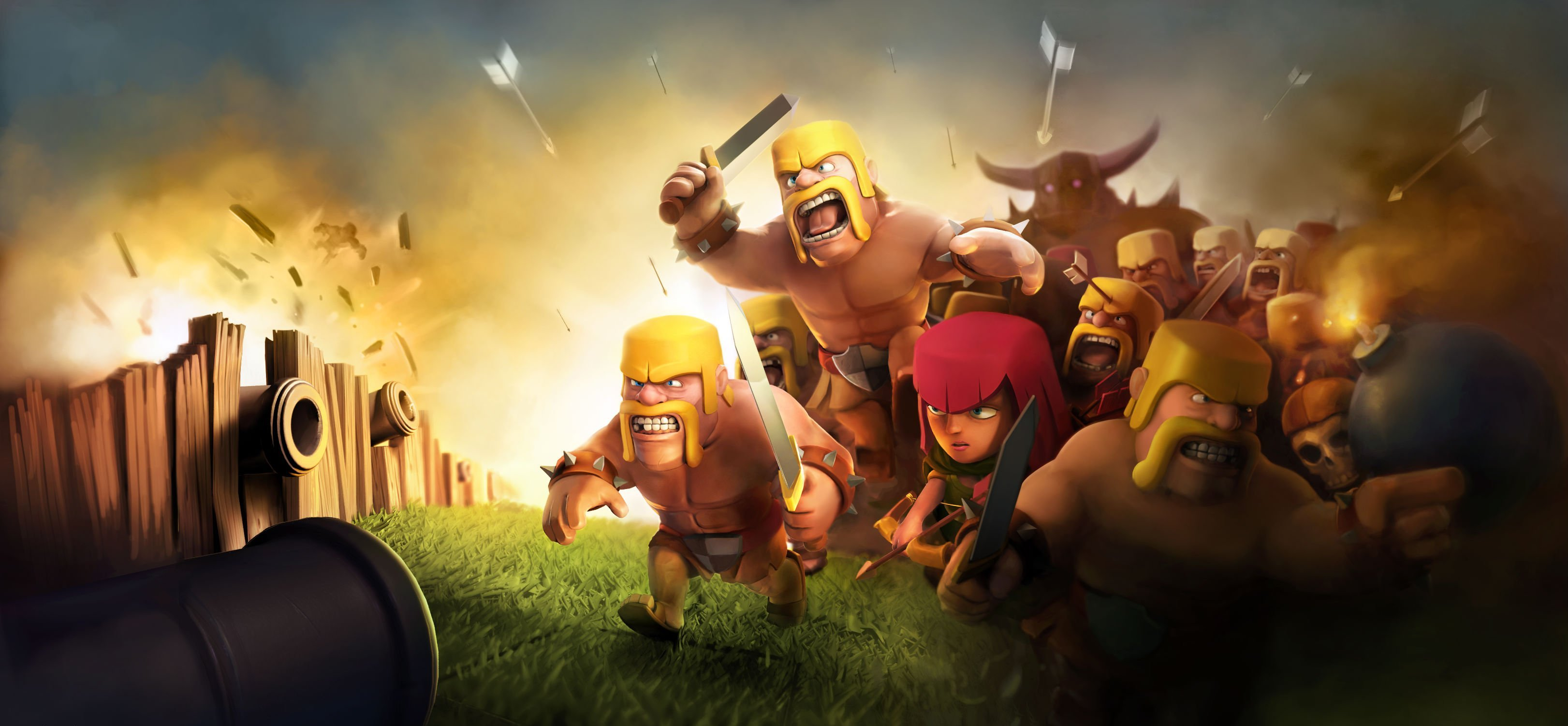 Barbarian Clash Of Clans Hd Hd Games 4k Wallpapers: 2048x1152 Clash Of Clans HD 2048x1152 Resolution HD 4k