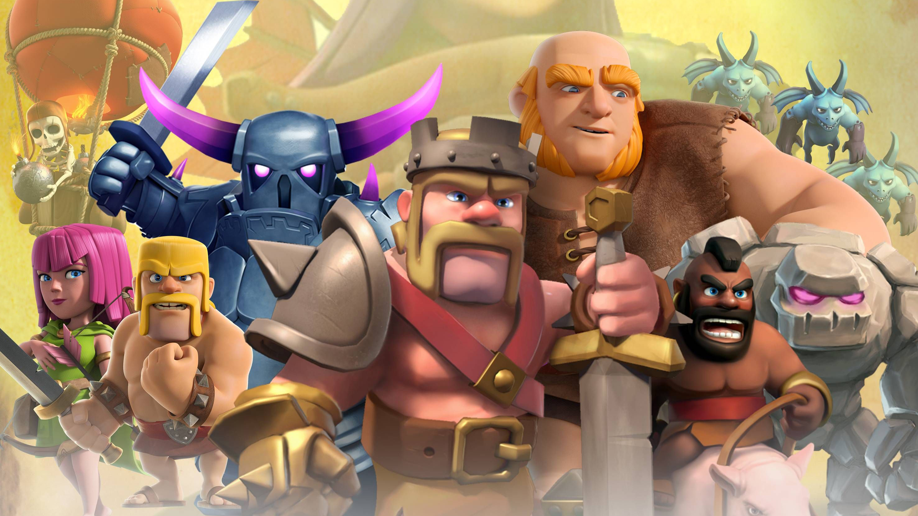 Barbarian Clash Of Clans Hd Hd Games 4k Wallpapers: 2560x1440 Clash Of Clans Mobile Game 1440P Resolution HD