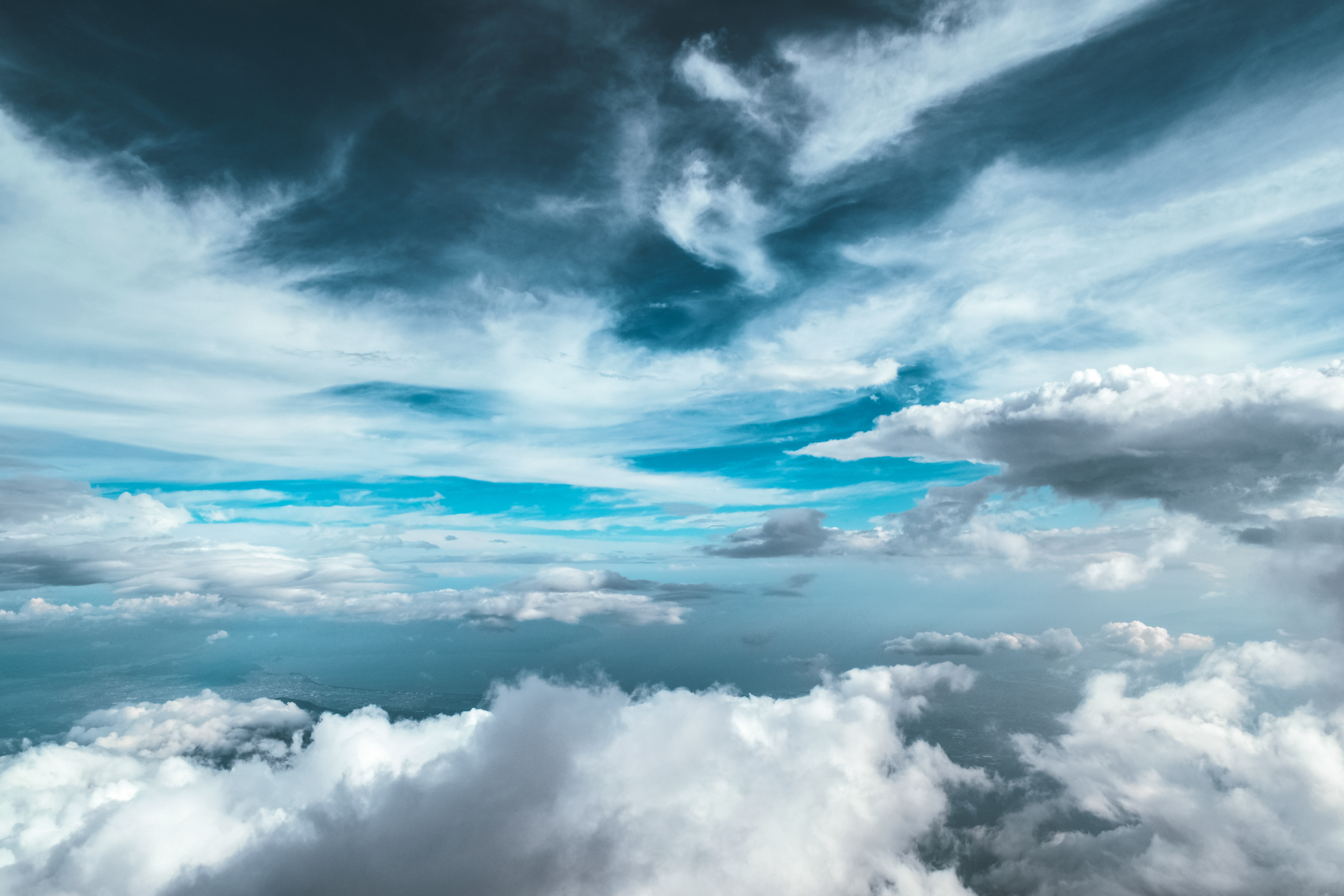 Wallpaper Clouds Blue Sky Hd 5k Nature 3492: Clear Sky Clouds Nature 5k, HD Nature, 4k Wallpapers
