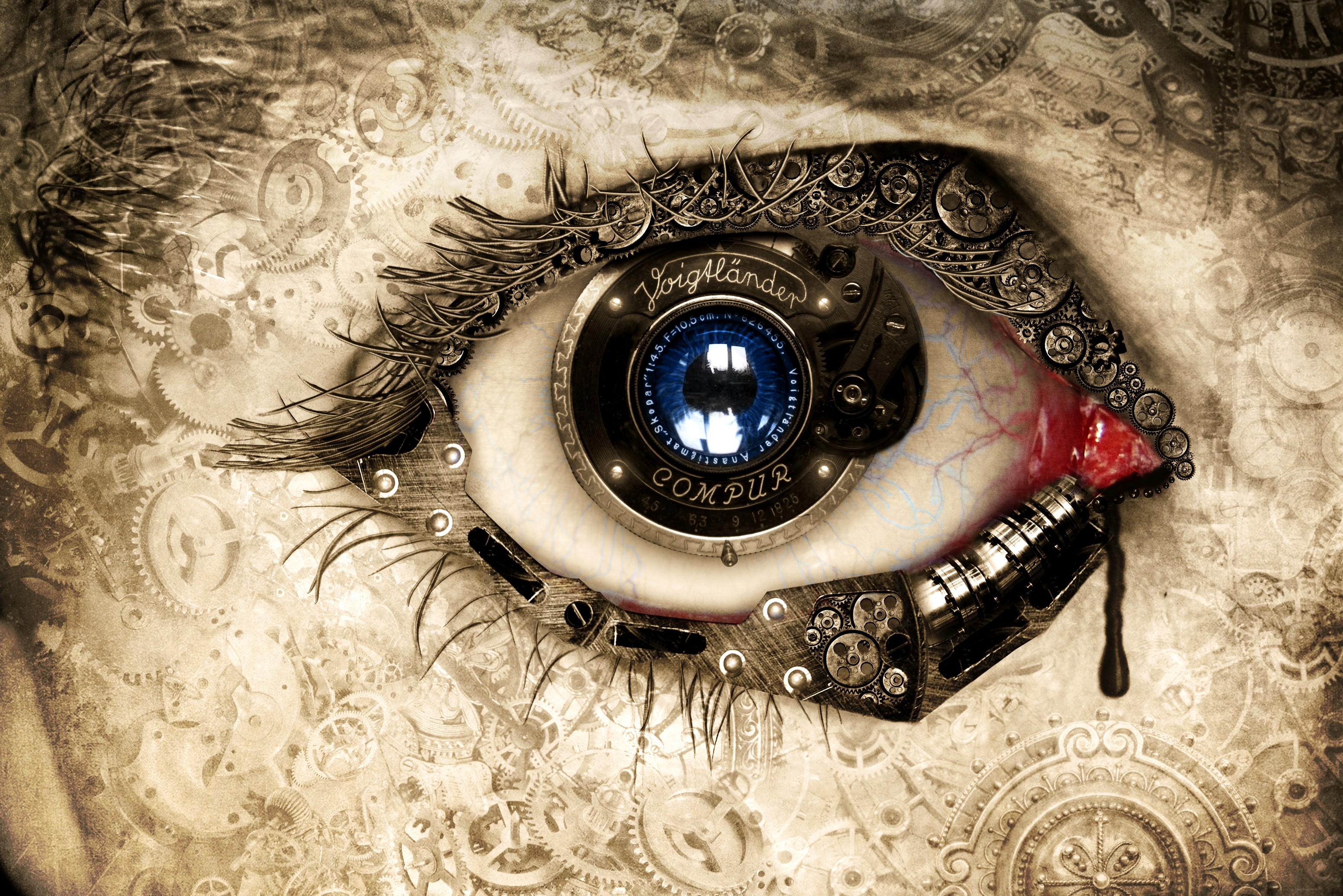 Clock eye hd creative 4k wallpapers images backgrounds photos and pictures - Eye drawing wallpaper ...