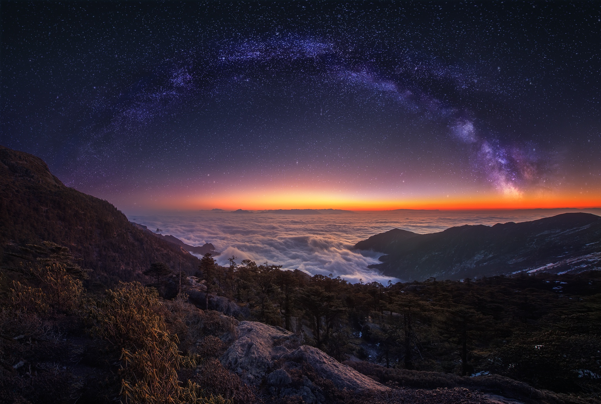 4k Night Sky Wallpaper 37 Images: 3840x2400 Cloud Landscape Milky Way Nature Night Panorama