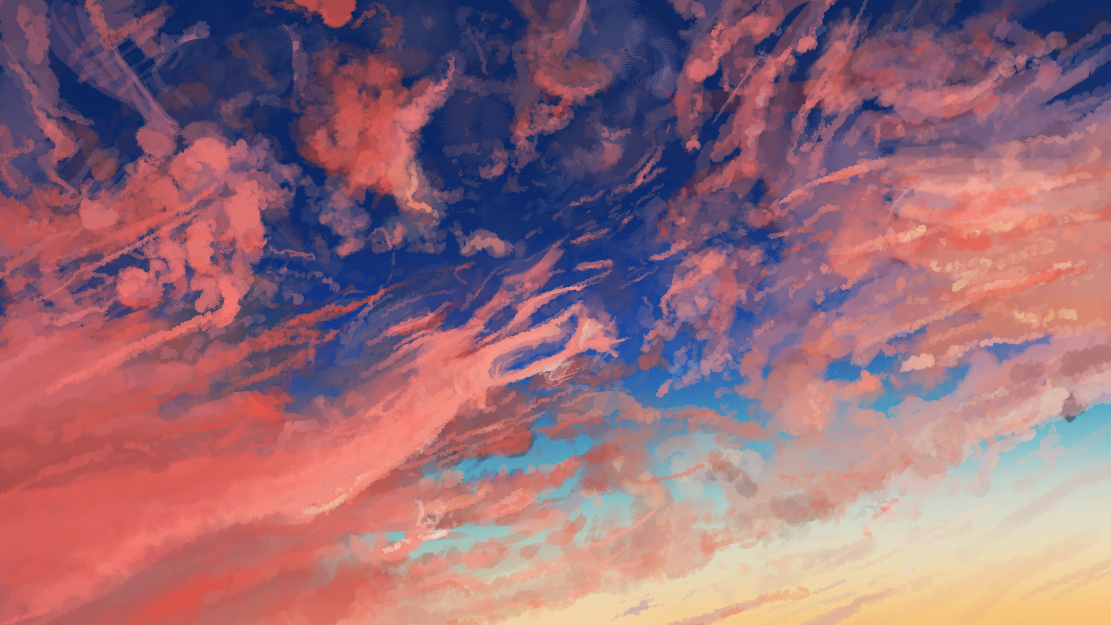 2048x1152 cloud sky anime 2048x1152 resolution hd 4k - Anime background wallpaper 4k ...