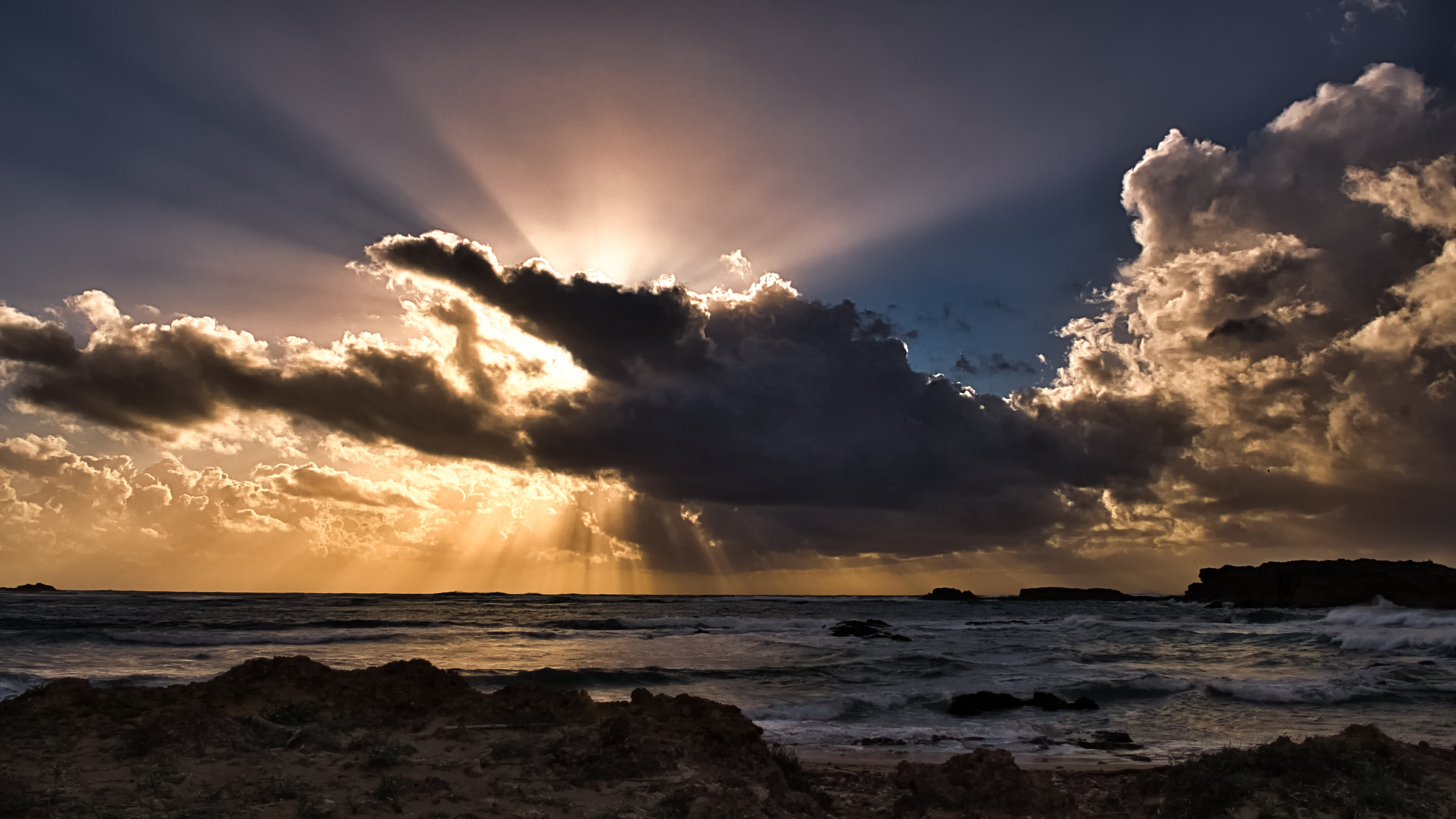 Clouds sun rays passing ocean 5k hd nature 4k wallpapers images backgrounds photos and pictures - Dramatic wallpaper ...
