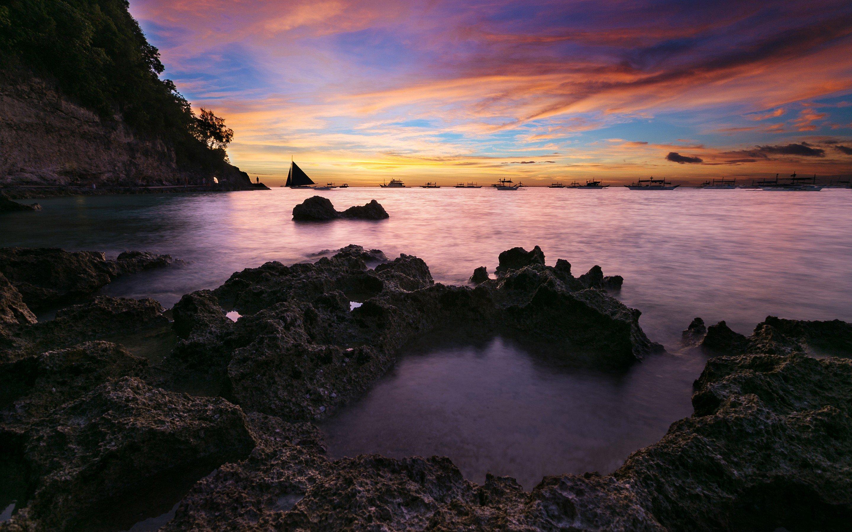 Coastal Sunset Seascape Nature HD k Wallpapers