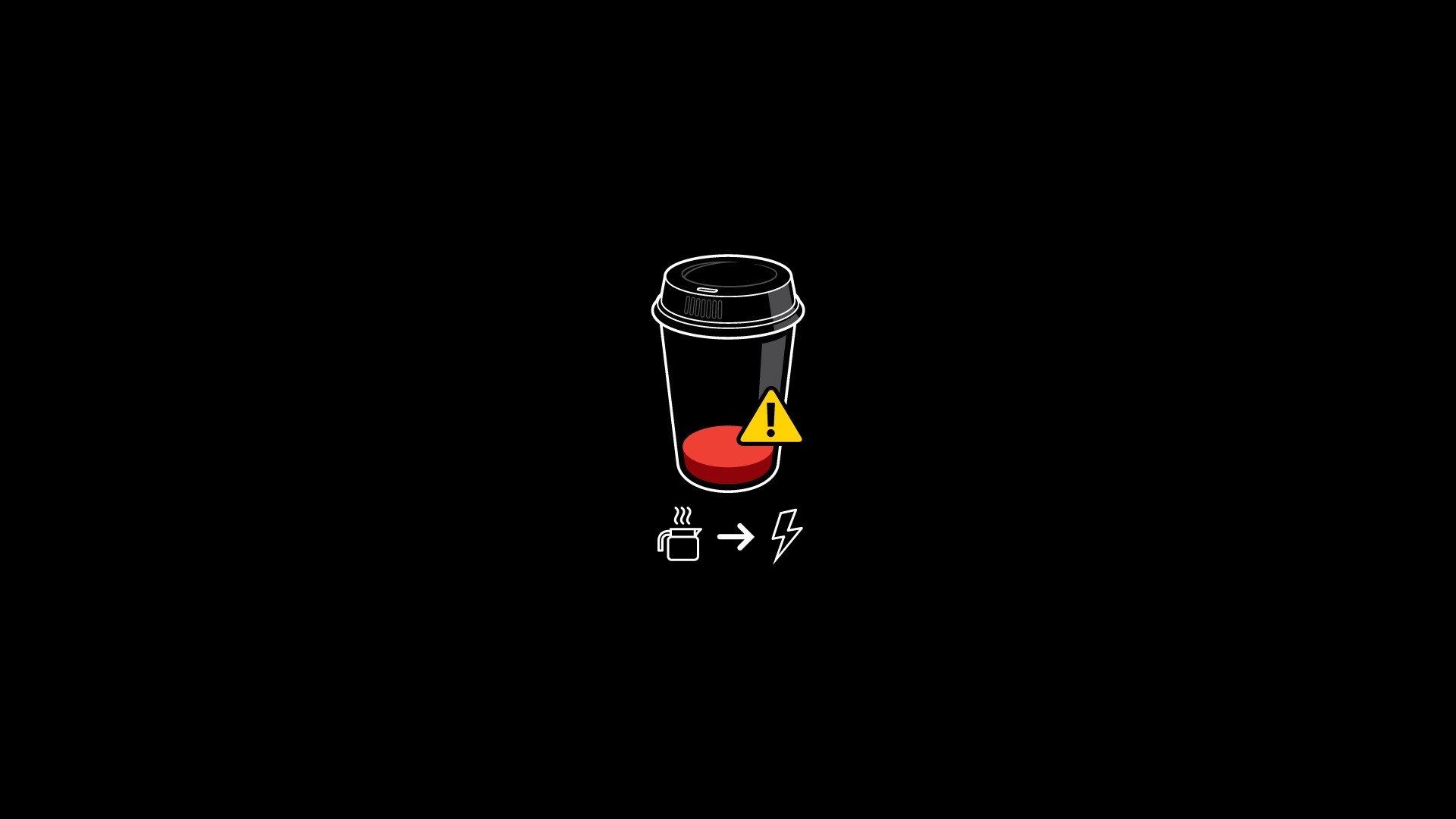 Coffee Battery Minimalism, HD Artist, 4k Wallpapers ...