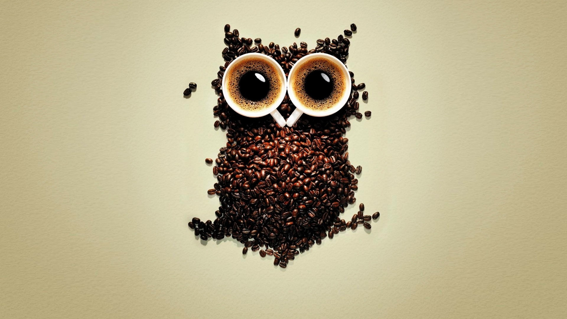 Good Coffee Beans Owl Art