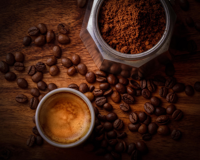 Coffee Beside Coffee Beans, HD Food, 4k Wallpapers, Images ...