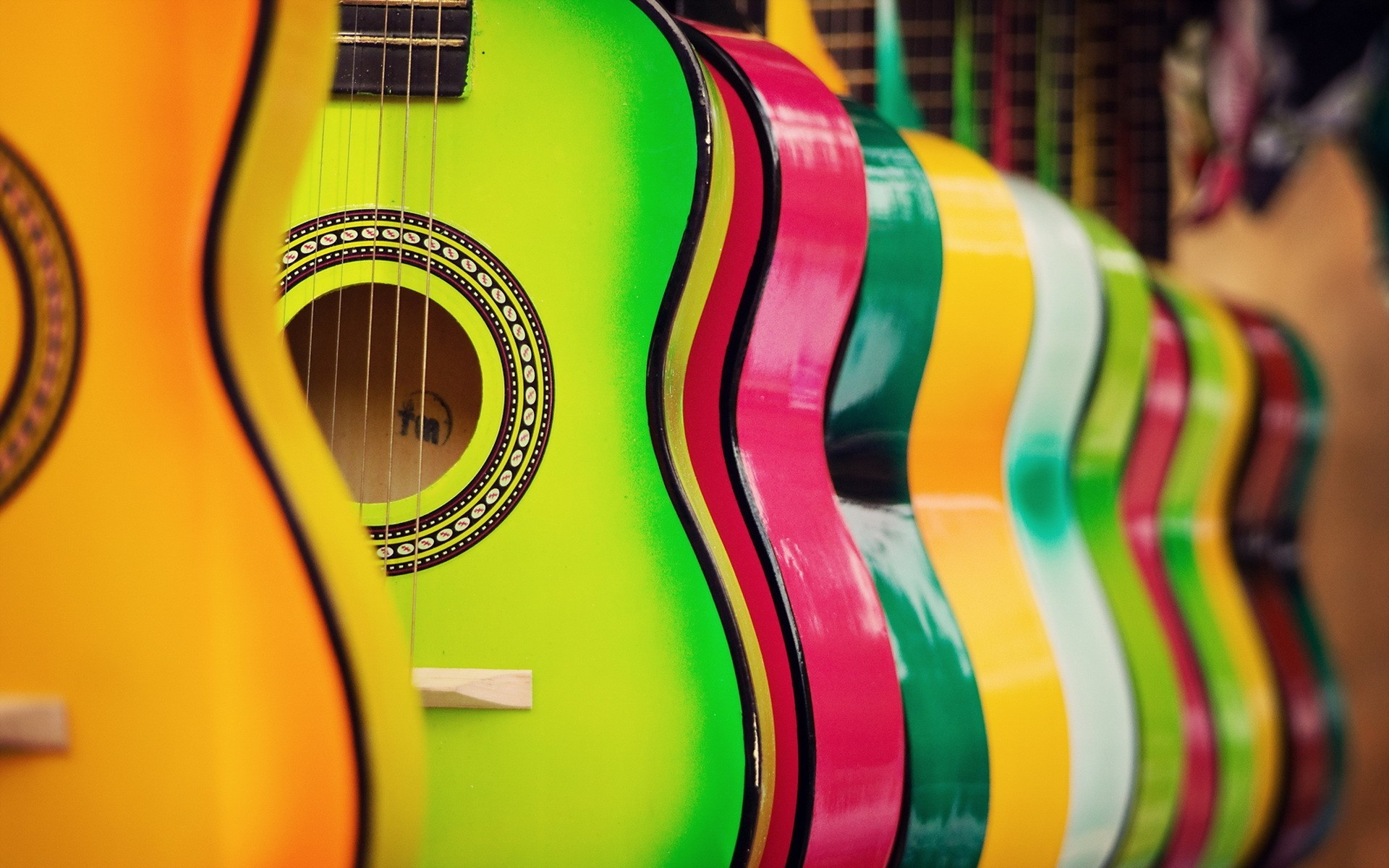 colorful guitar hd music 4k wallpapers images