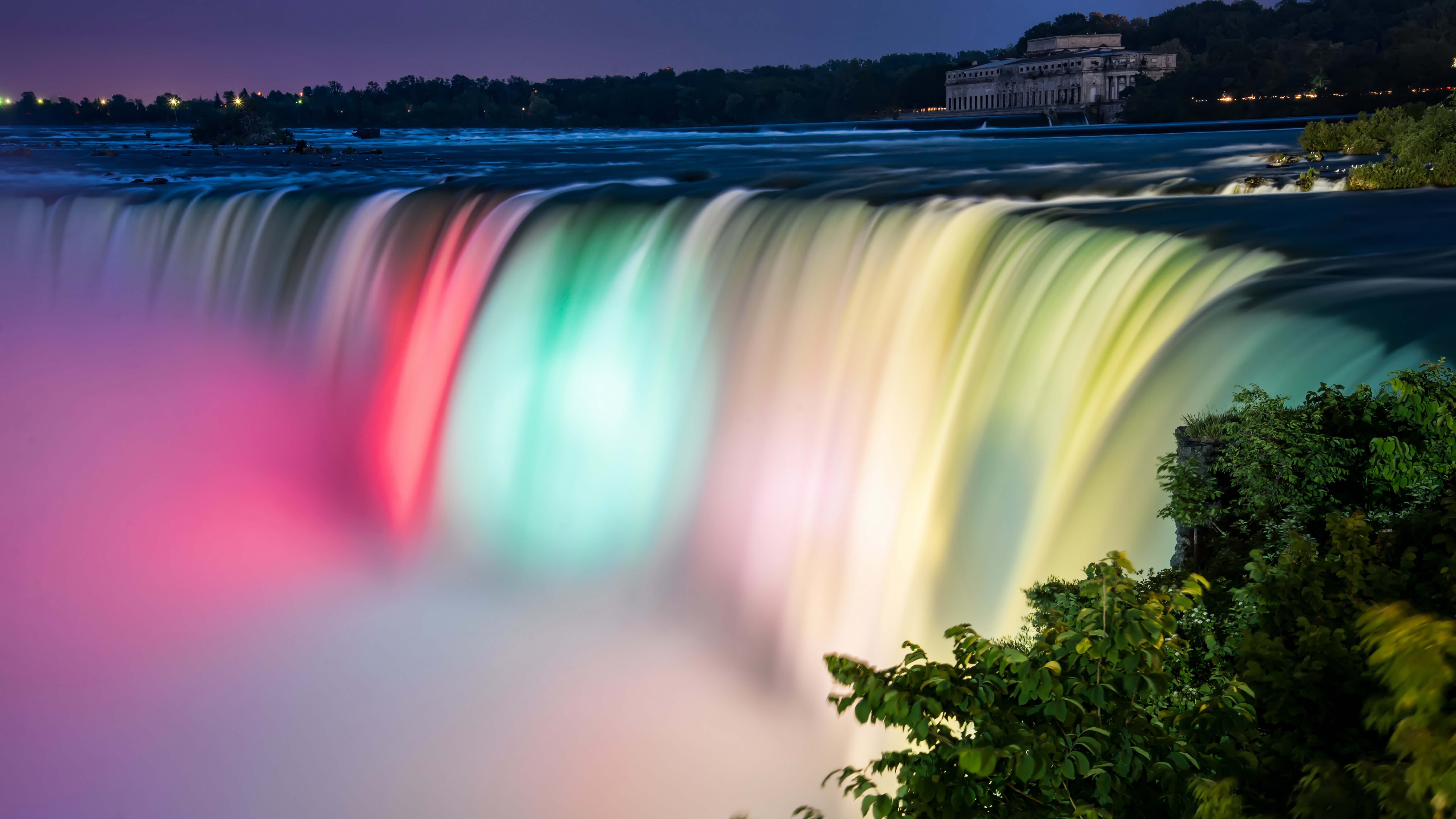 Colorful Niagara Falls