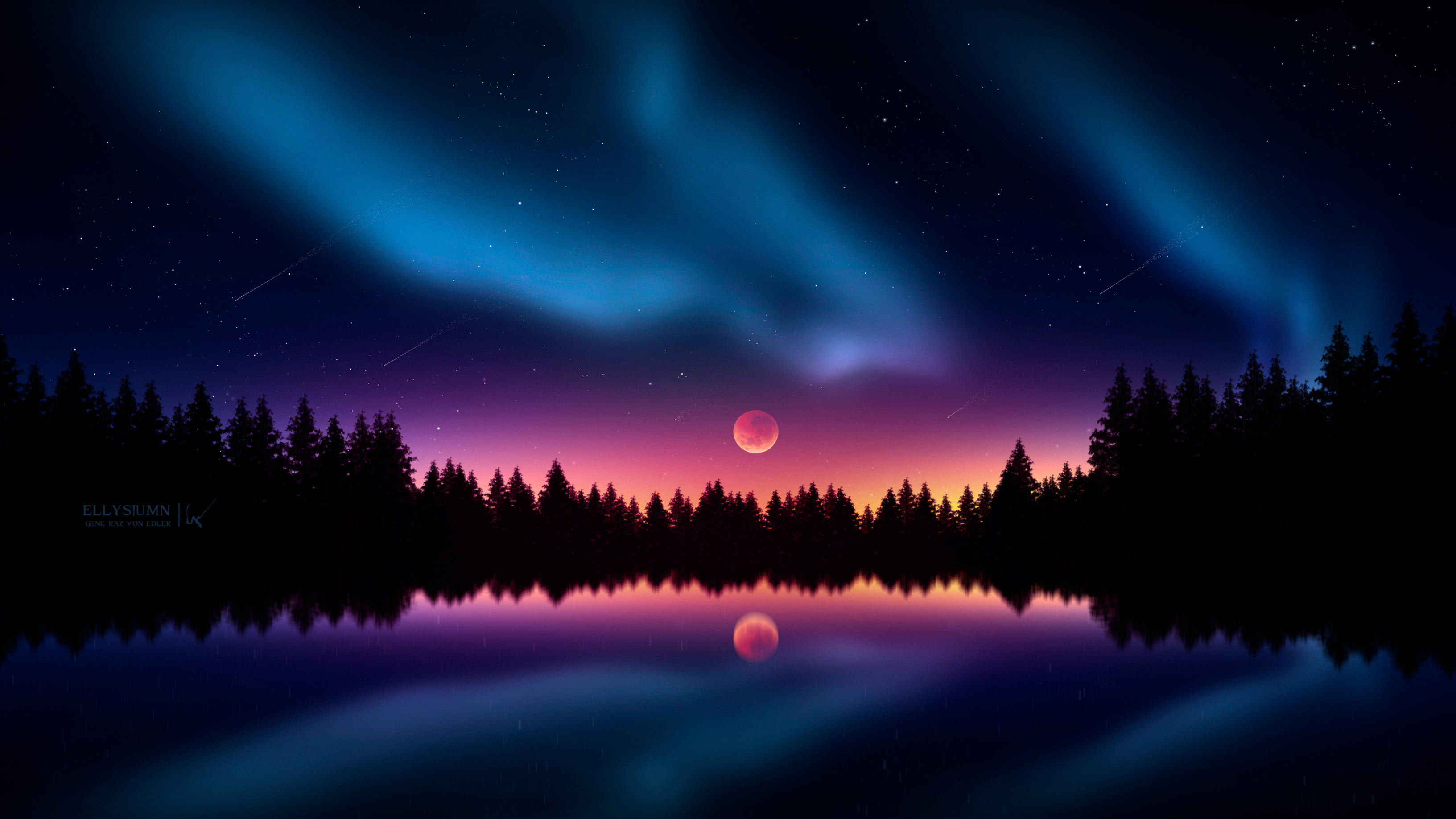 Colorful Night Stars, HD Artist, 4k Wallpapers, Images ...