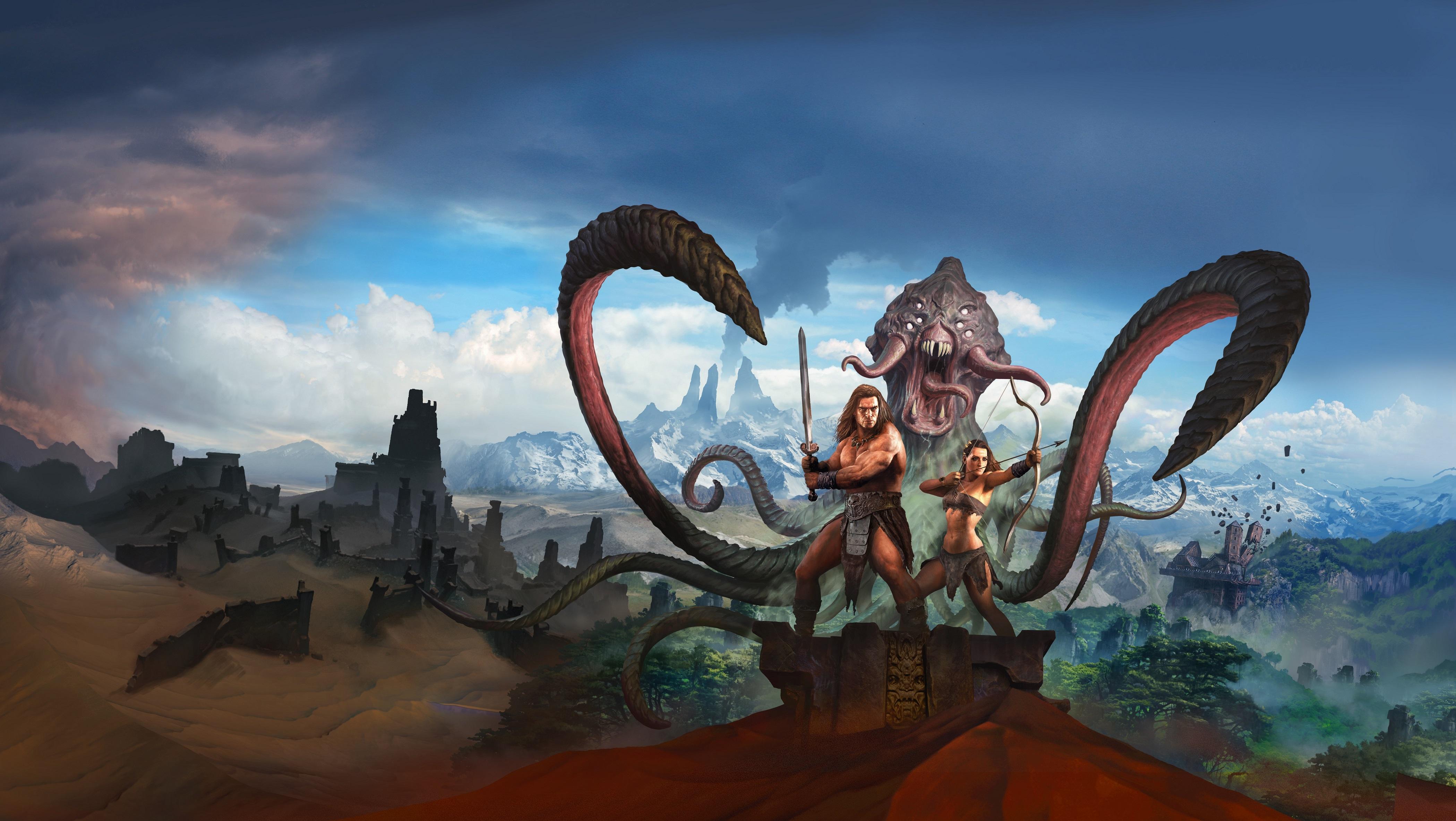 Conan exiles key art hd games 4k wallpapers images - Art wallpaper 2160x3840 ...