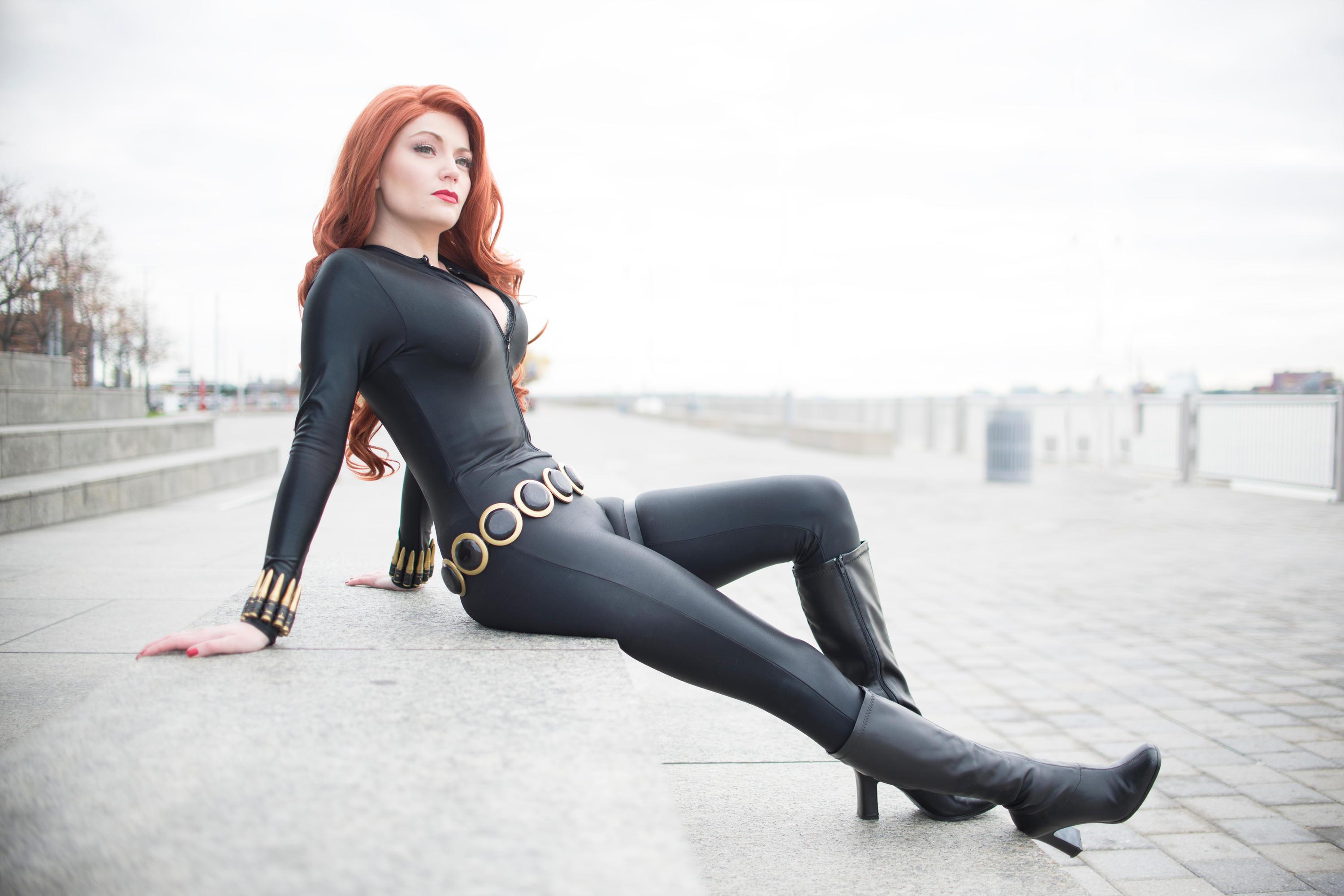 2048x1152 Cosplay Black Widow 2048x1152 Resolution HD 4k