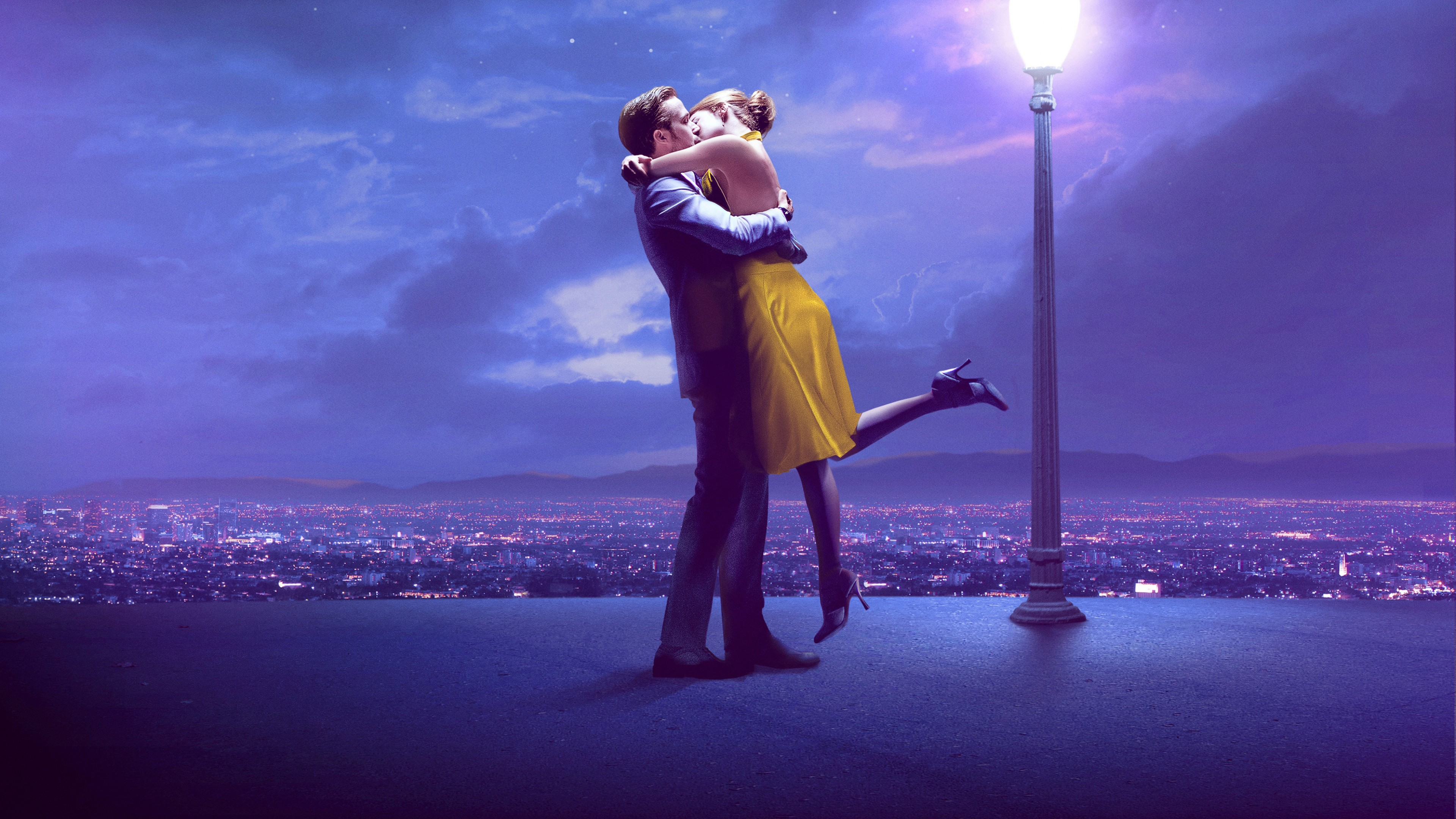 Couple Kissing 4k Ryan Gosling Emma Stone