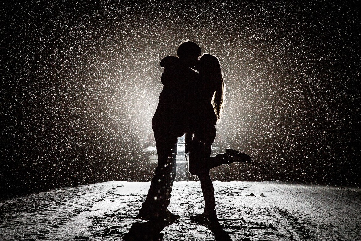 Couple Kissing In Snow, Hd Love, 4K Wallpapers, Images -7795
