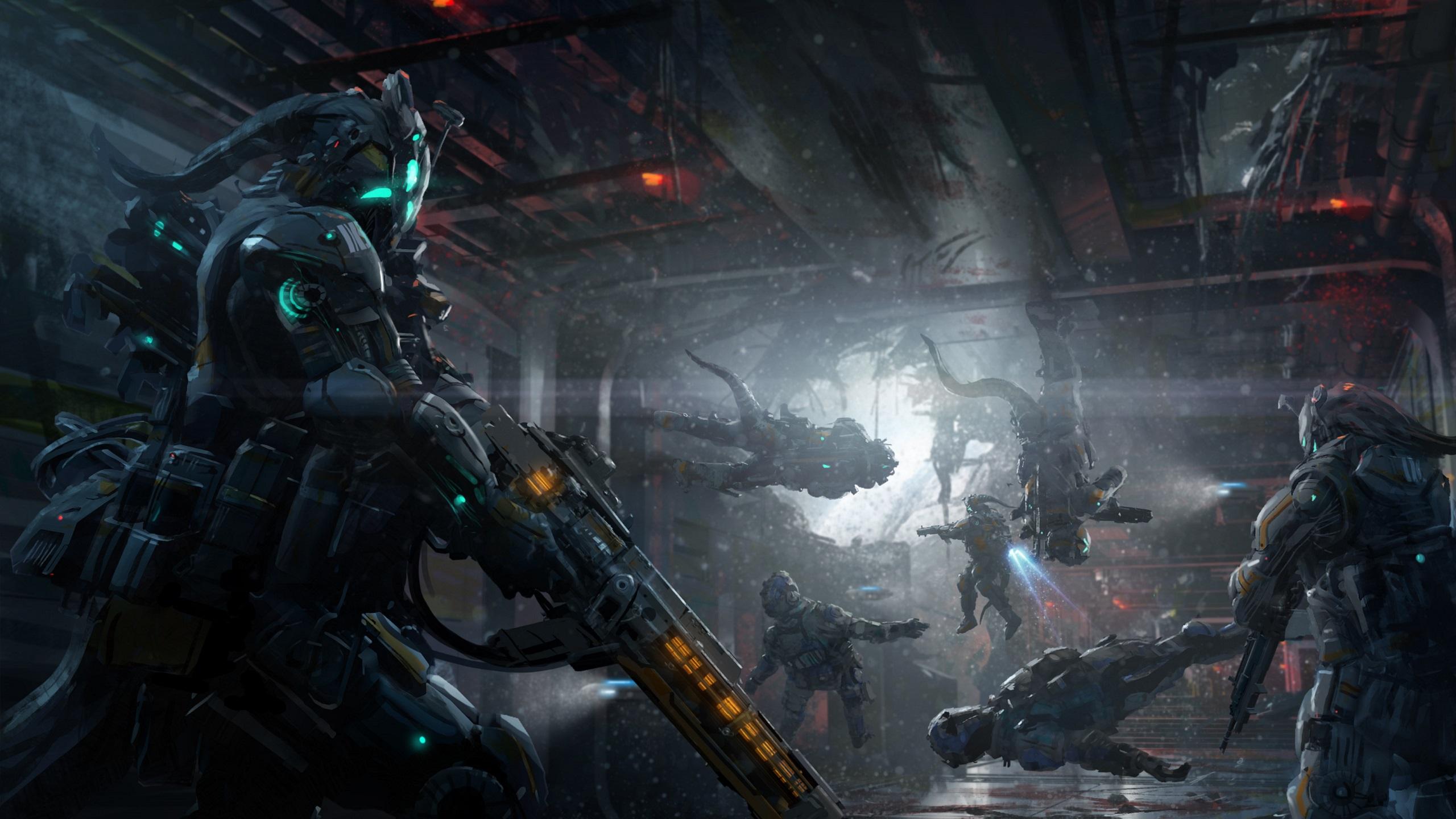 2560x1440 Creature Sci Fi Warrior 1440p Resolution Hd 4k