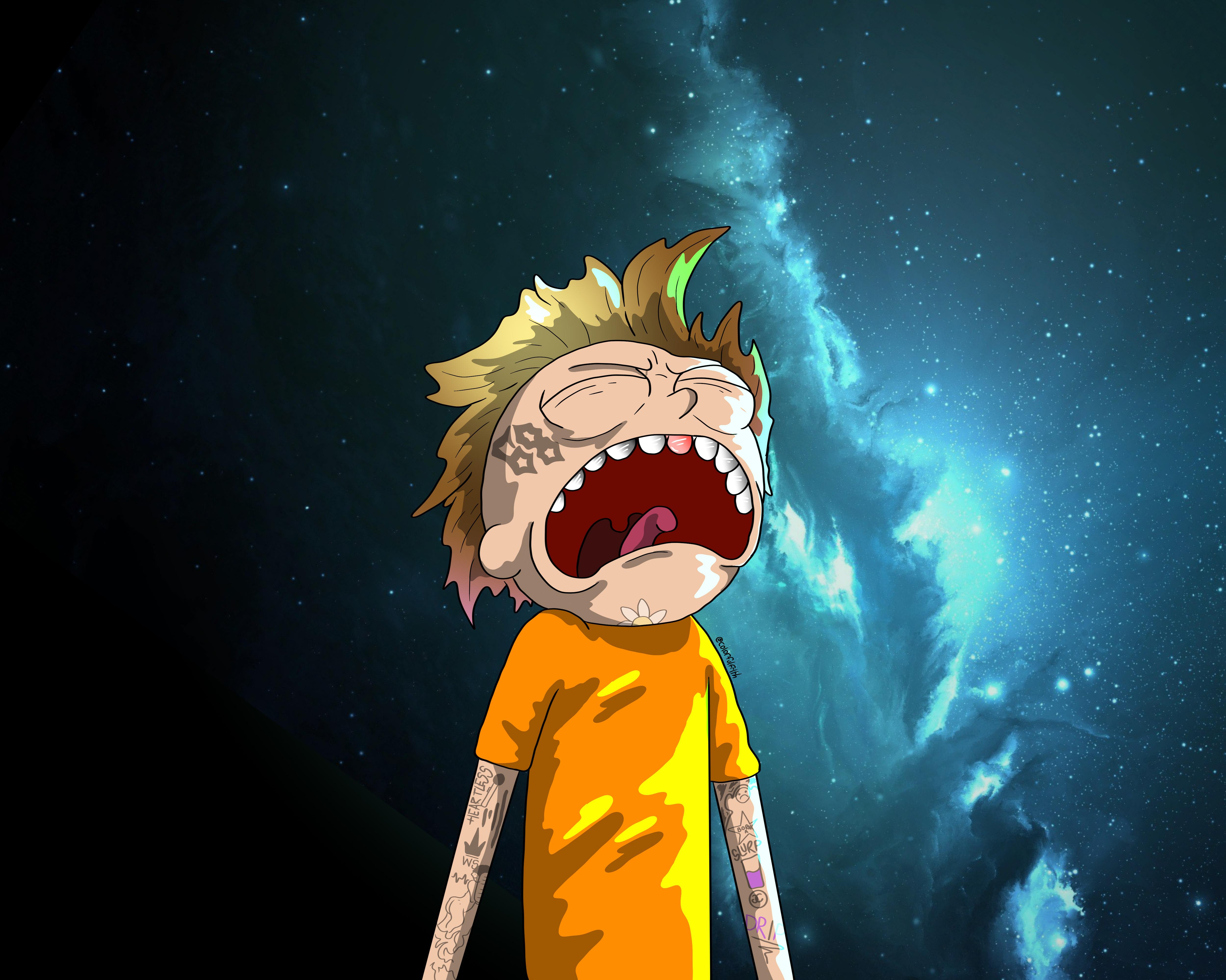 Crying Morty Digital Art, HD Cartoons, 4k Wallpapers ...