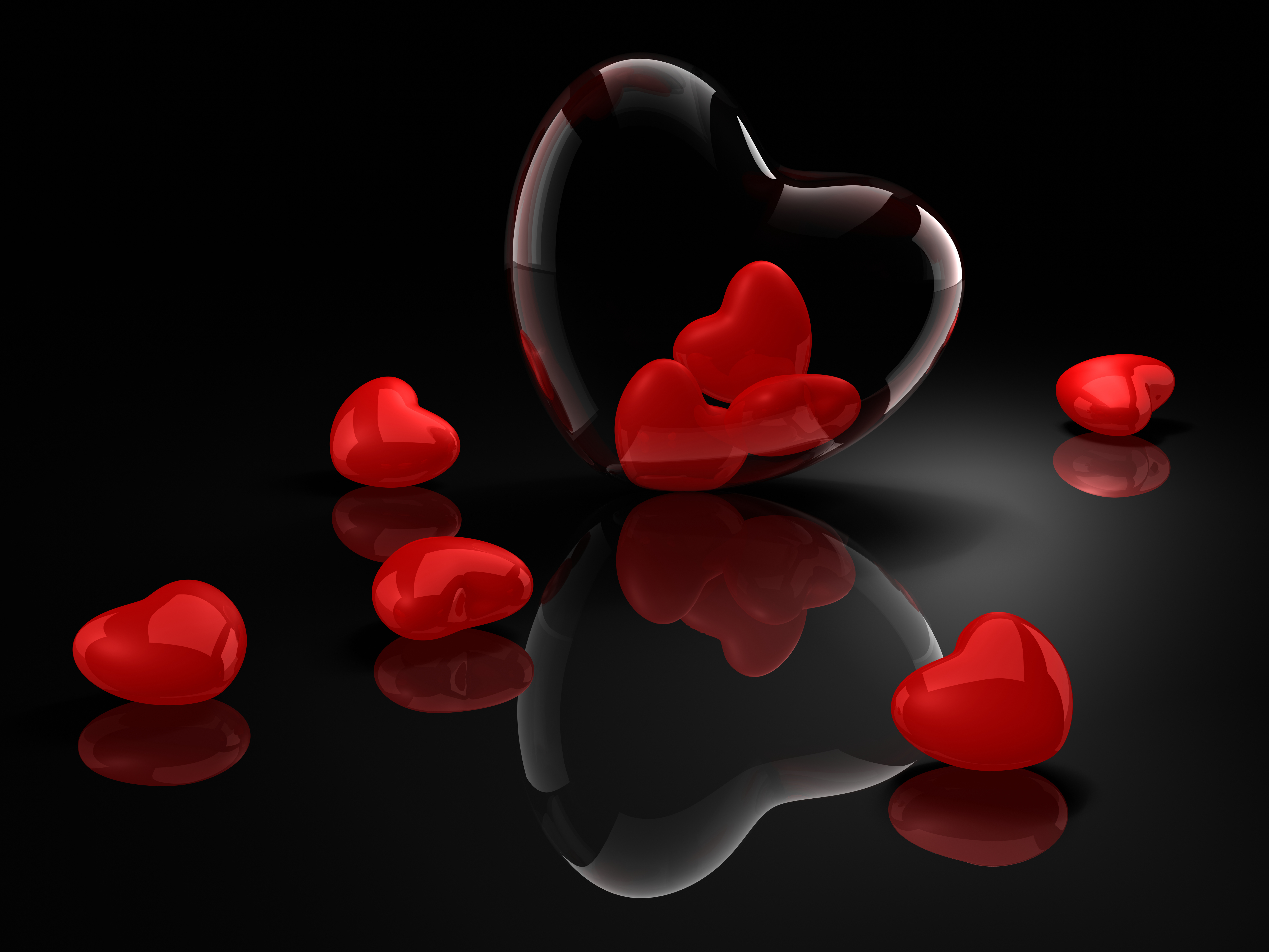Crystal Hearts 5k HD Love 4k Wallpapers Images Backgrounds