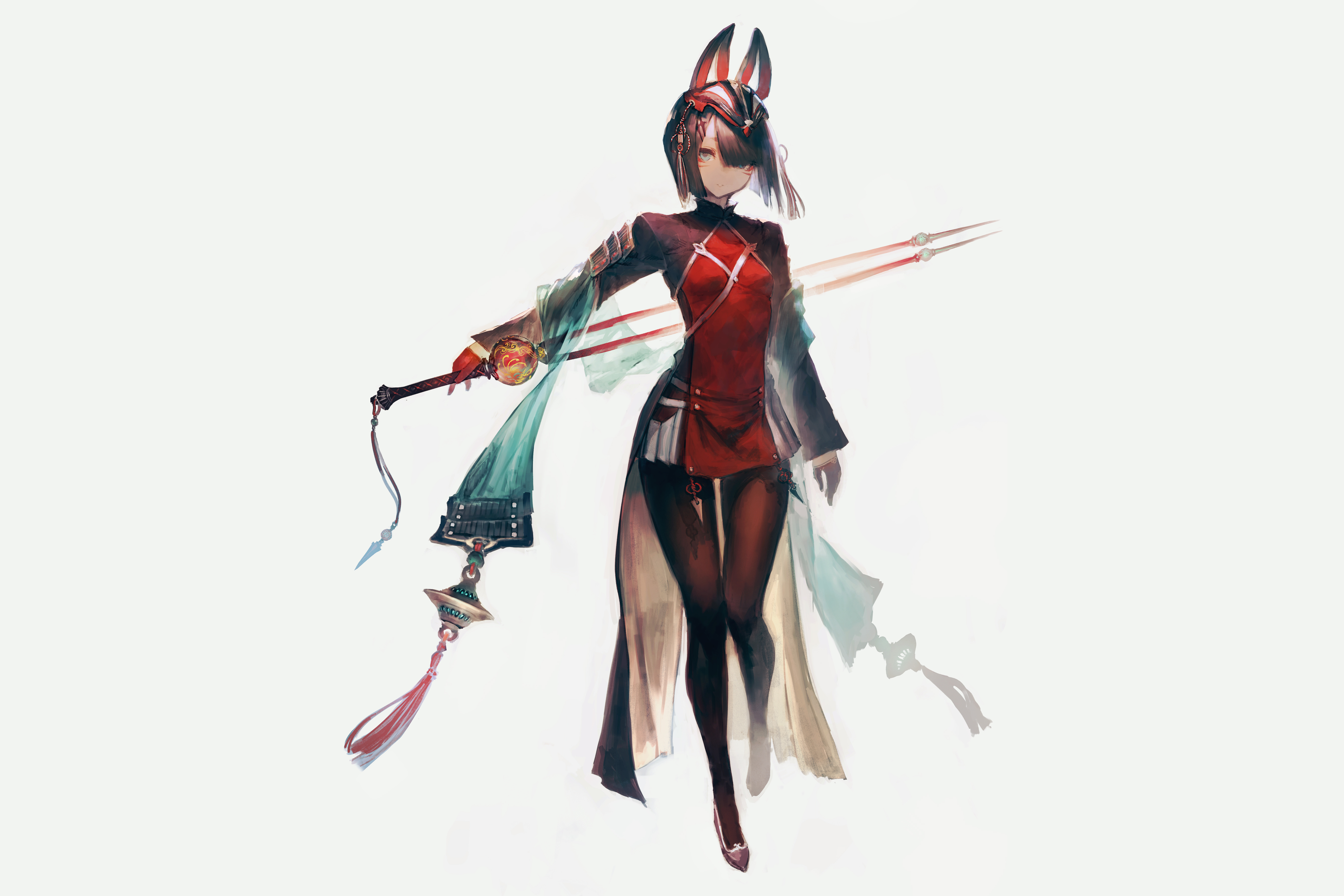 2560x1440 Cute Anime Girl With Sword 1440P Resolution HD ...
