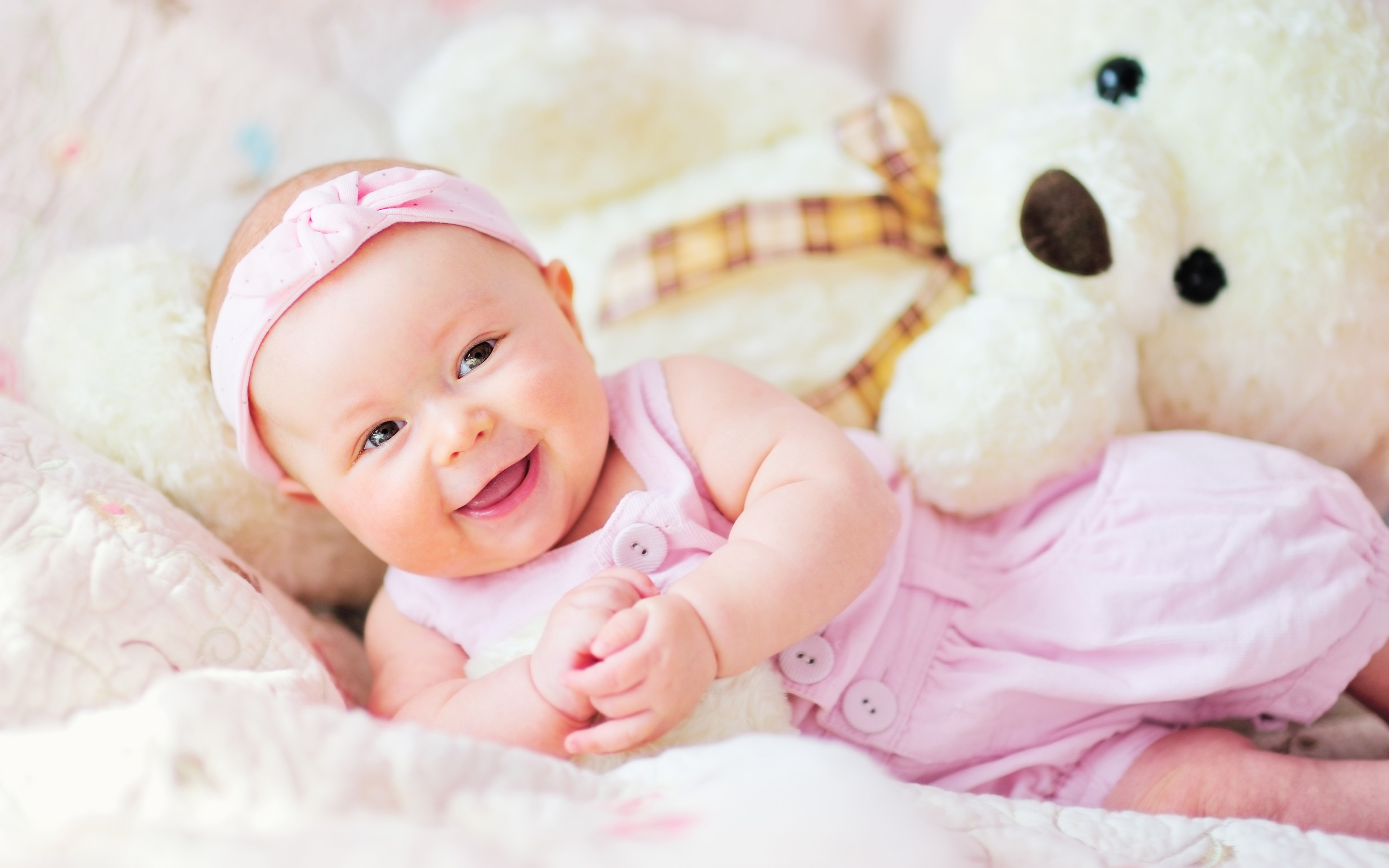 cute baby with teddy bear, hd cute, 4k wallpapers, images