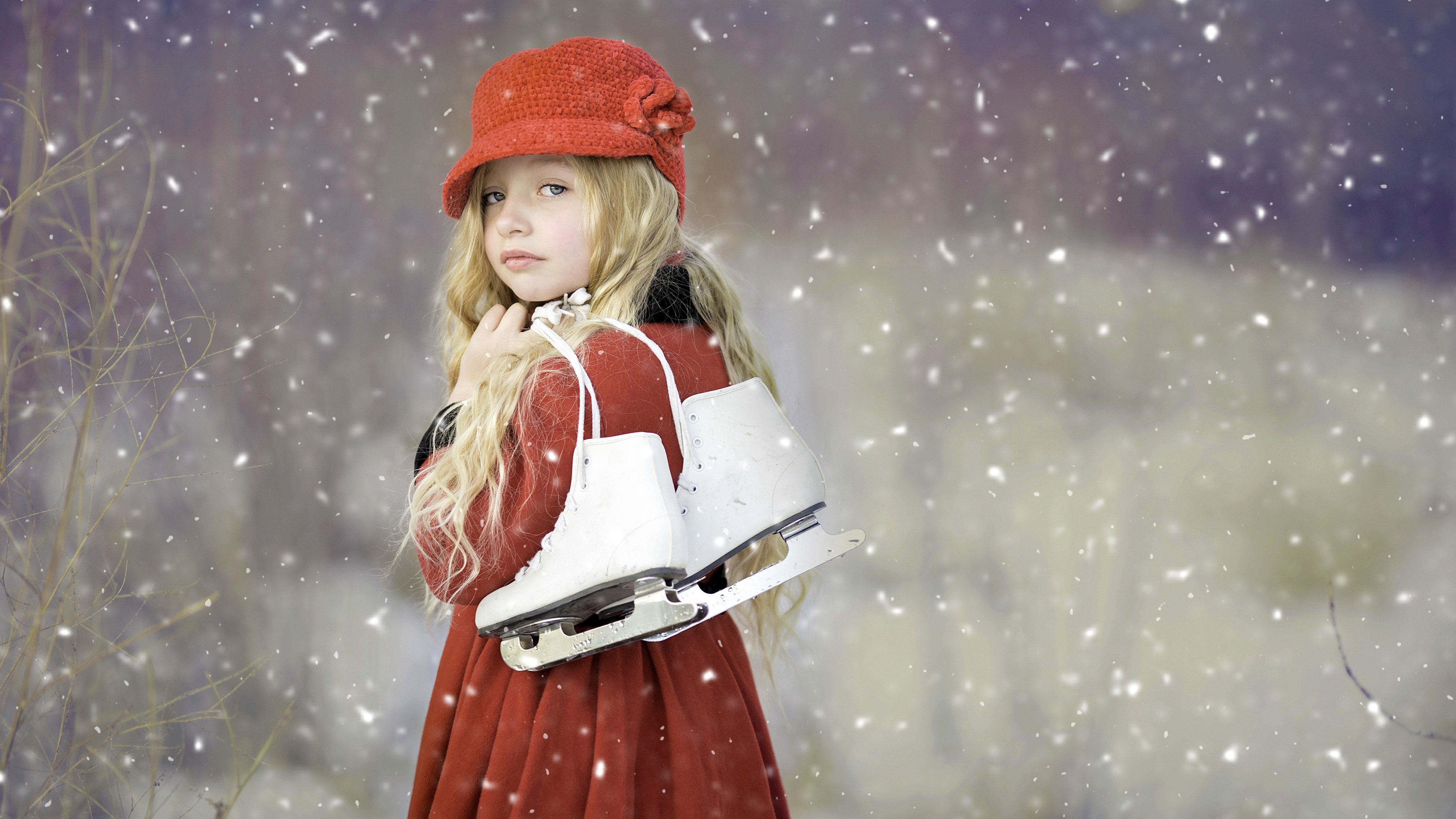 cute girl ice skates hd cute 4k wallpapers images