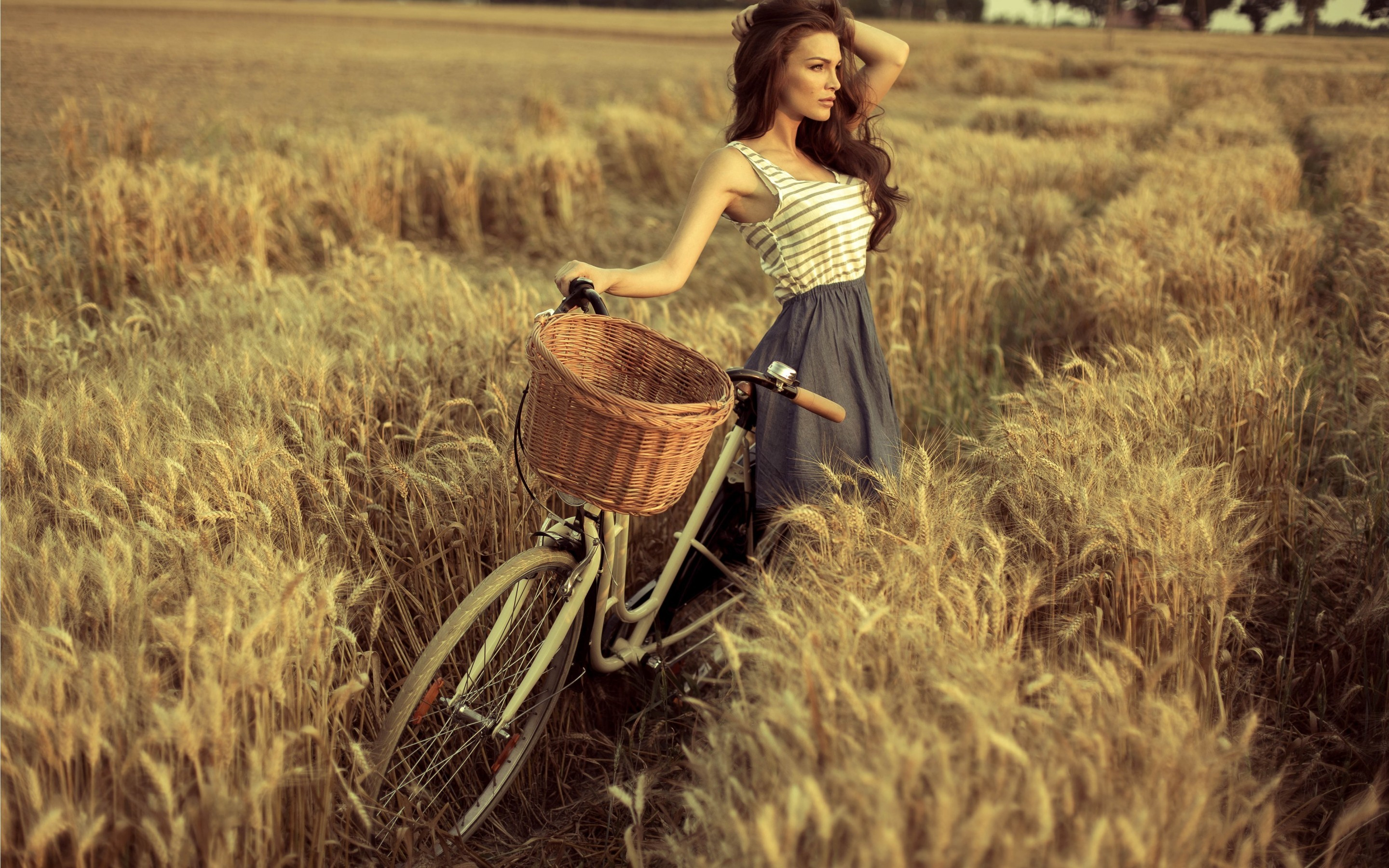 cute girl with cycle, hd girls, 4k wallpapers, images, backgrounds