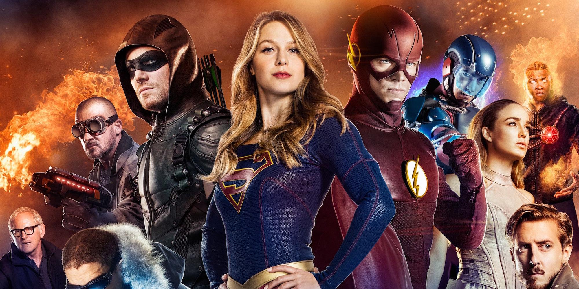 dc superhero wallpaper  CW DC Superhero Crossover, HD Tv Shows, 4k Wallpapers, Images ...