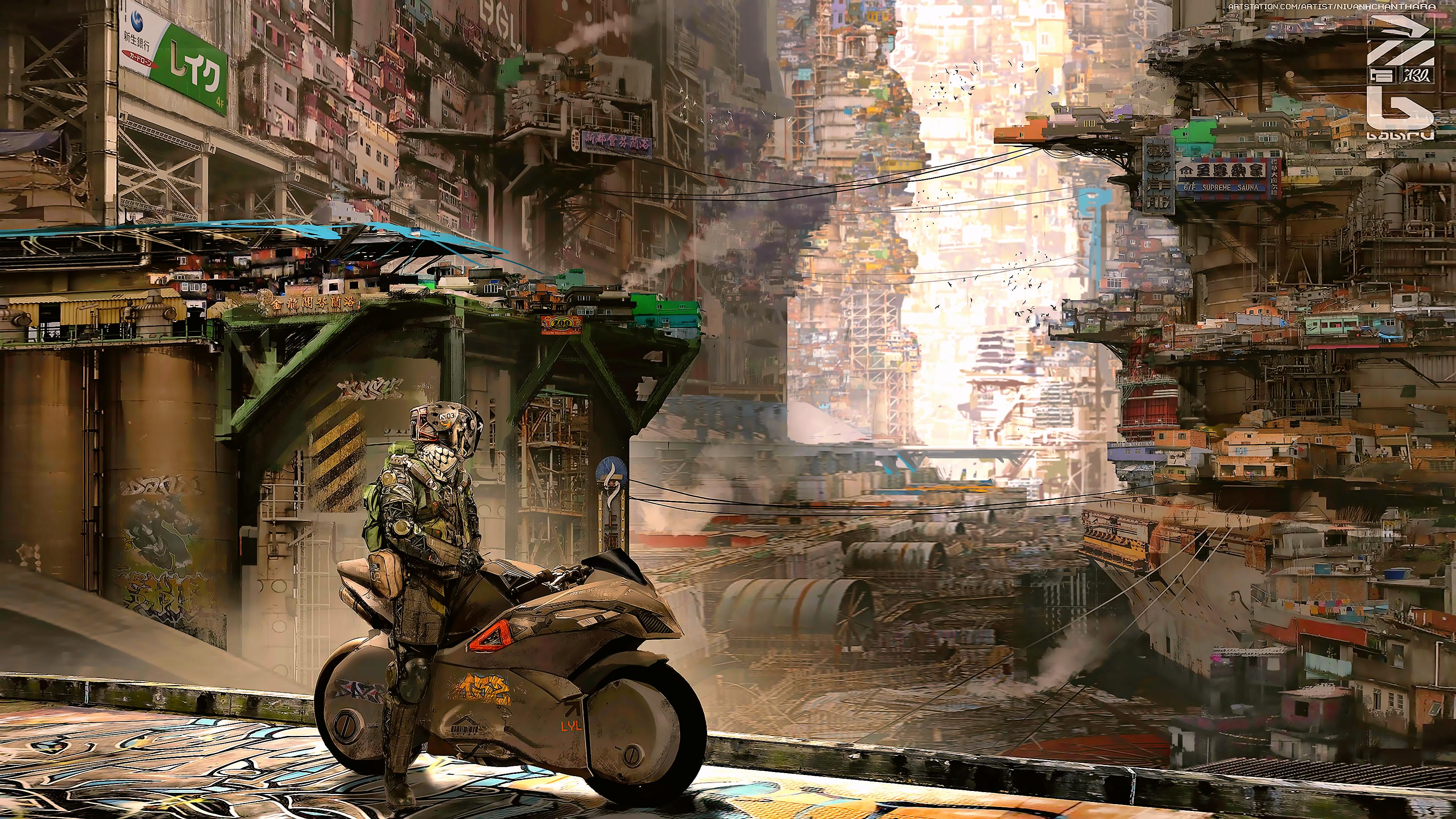 Cyber City Cyberpunk Science Fiction 4k, HD Artist, 4k ...