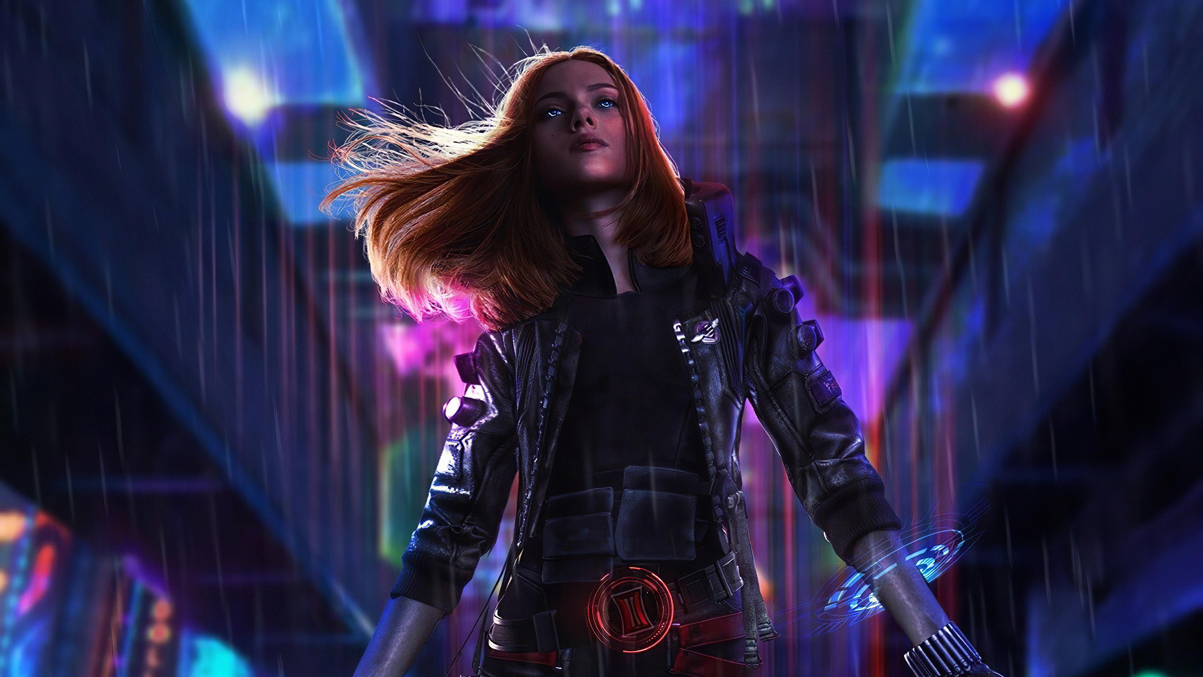 Cyberpunk Black Widow 4k Hd Superheroes 4k Wallpapers