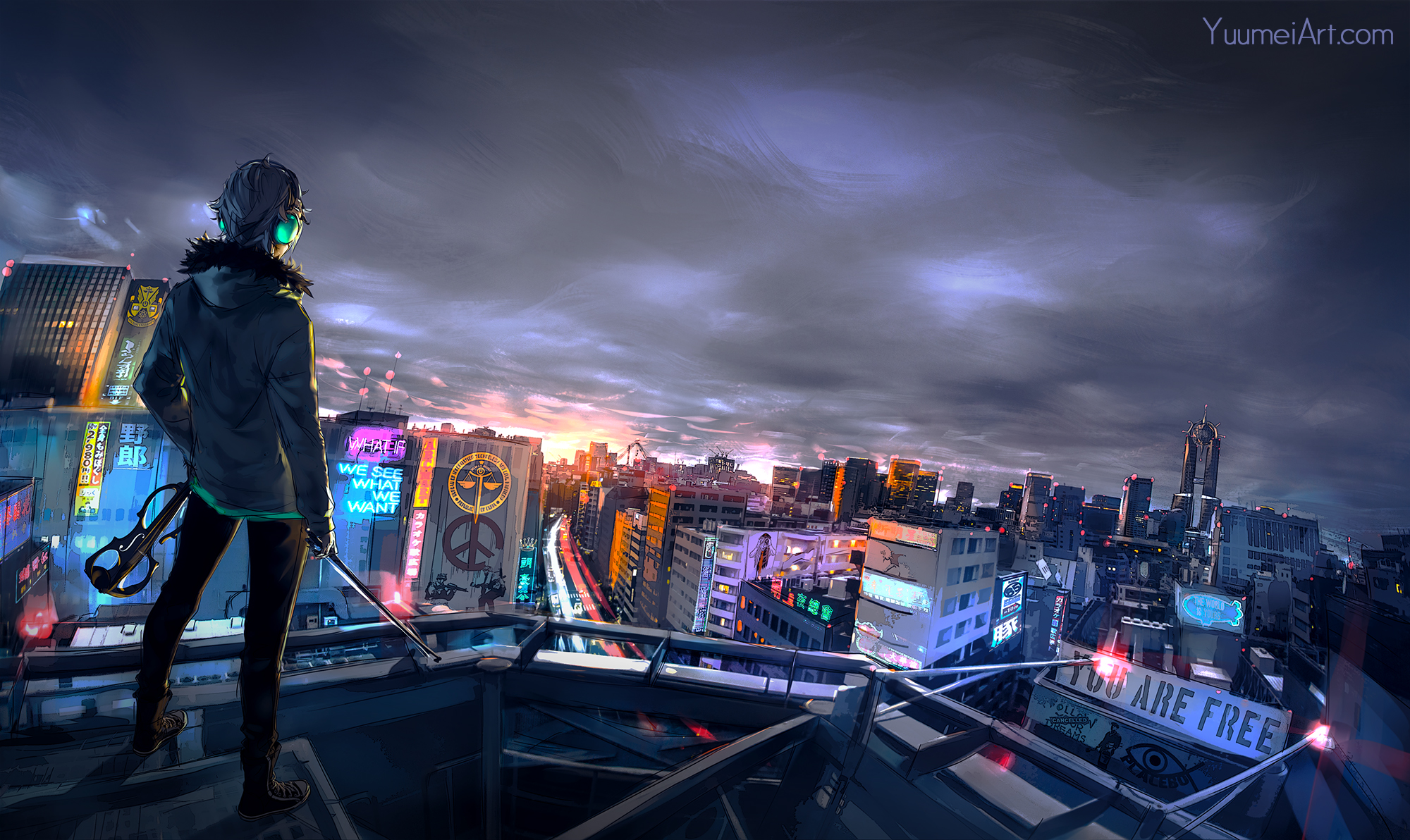 Cute Apartment Cyberpunk Cityscape Hd Artist 4k Wallpapers Images