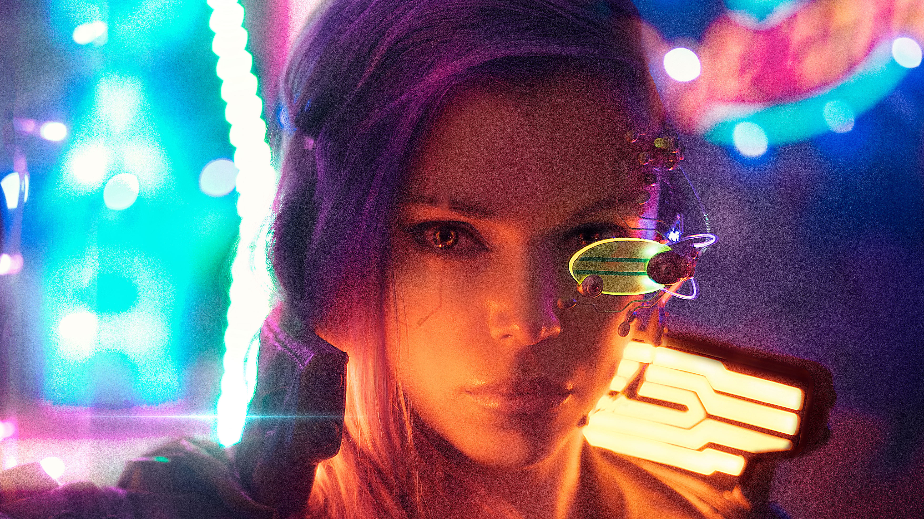 Cyberpunk Girl Cosplay 4k, HD Fantasy Girls, 4k Wallpapers ...