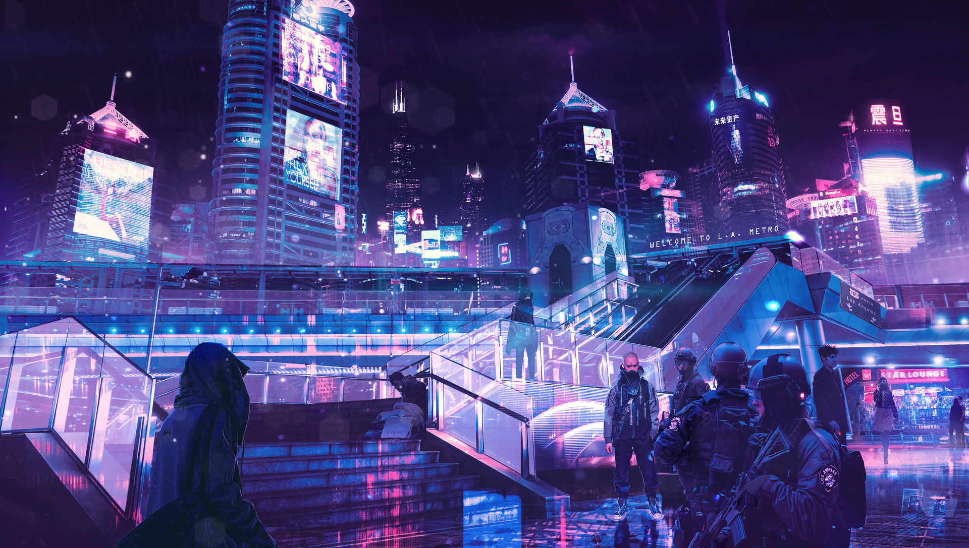 Cyberpunk Neon City Hd Artist 4k Wallpapers Images