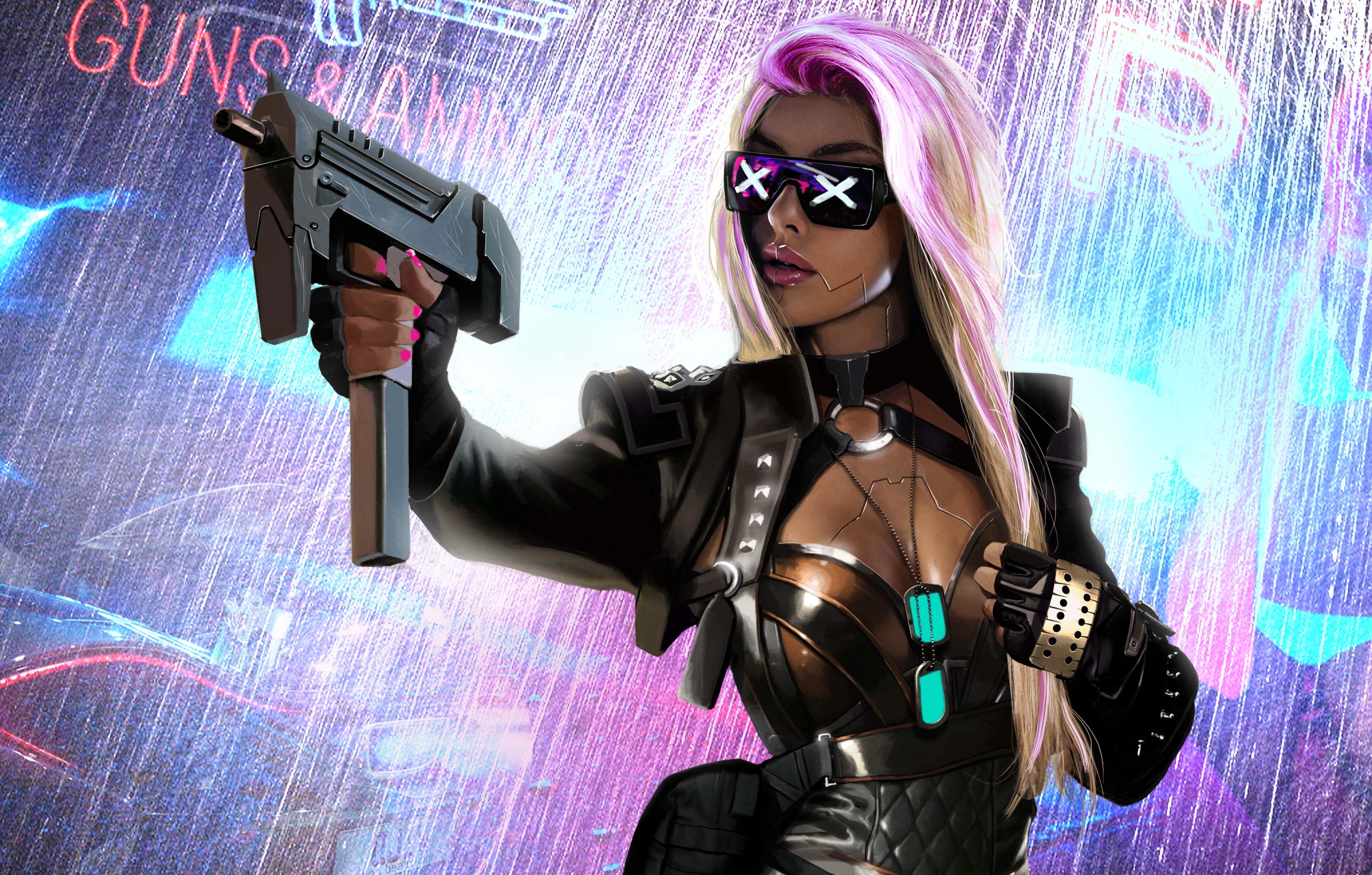 Cyberpunk Scifi Girl 5k, HD Artist, 4k Wallpapers, Images ...