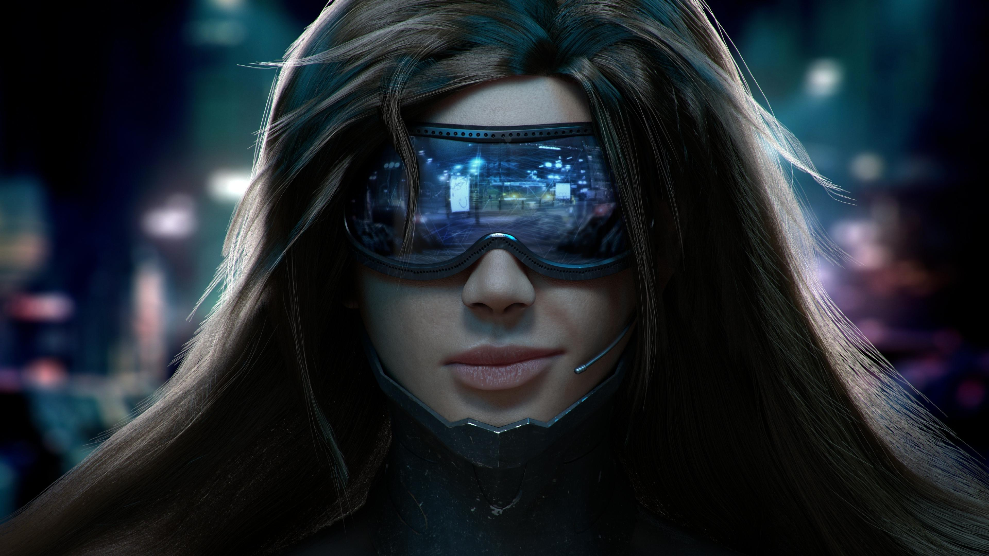 cyberpunk scifi girl, hd games, 4k wallpapers, images, backgrounds
