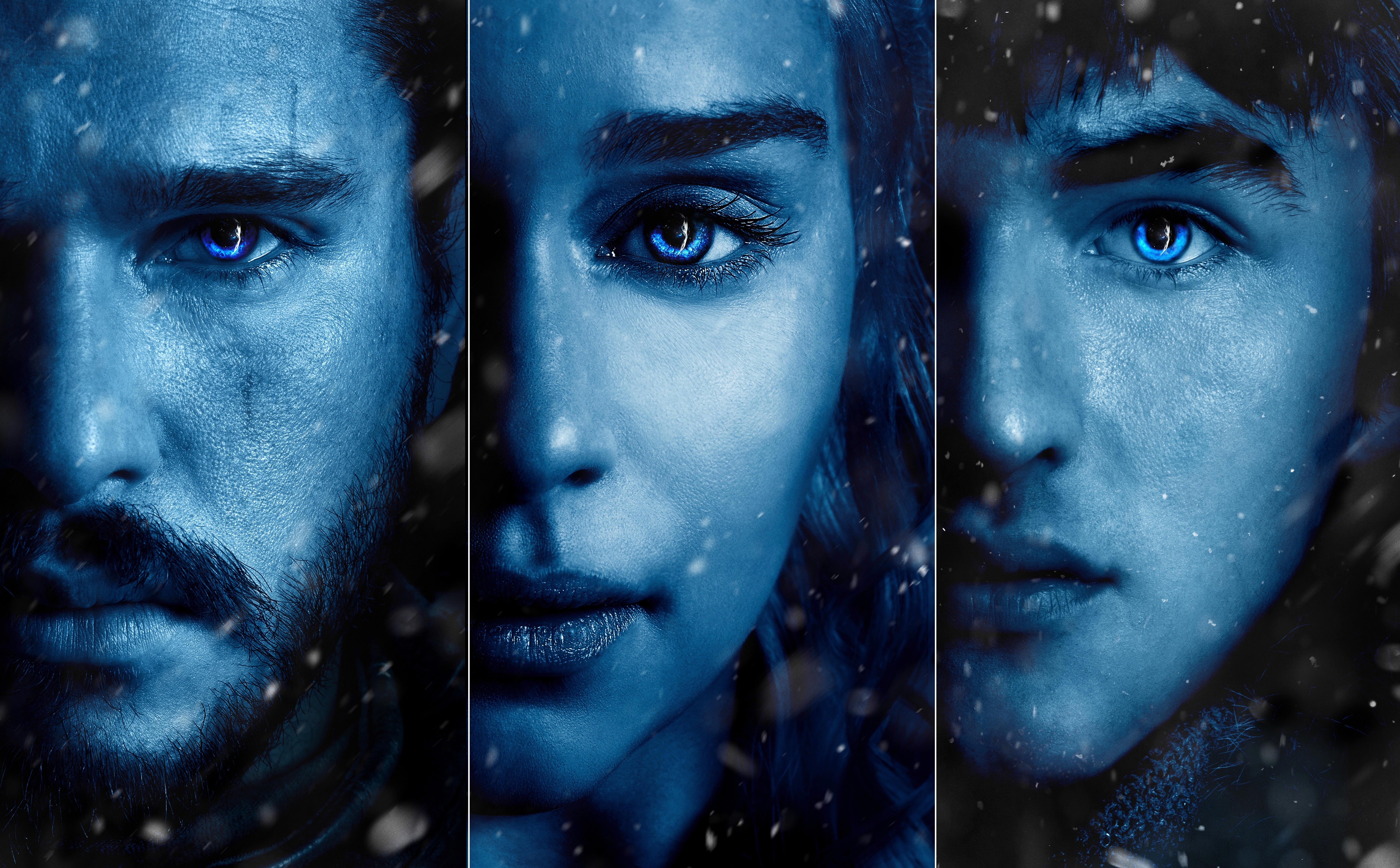 Daenerys Jon Snow Bran Stark Posters Game Of Thrones ...