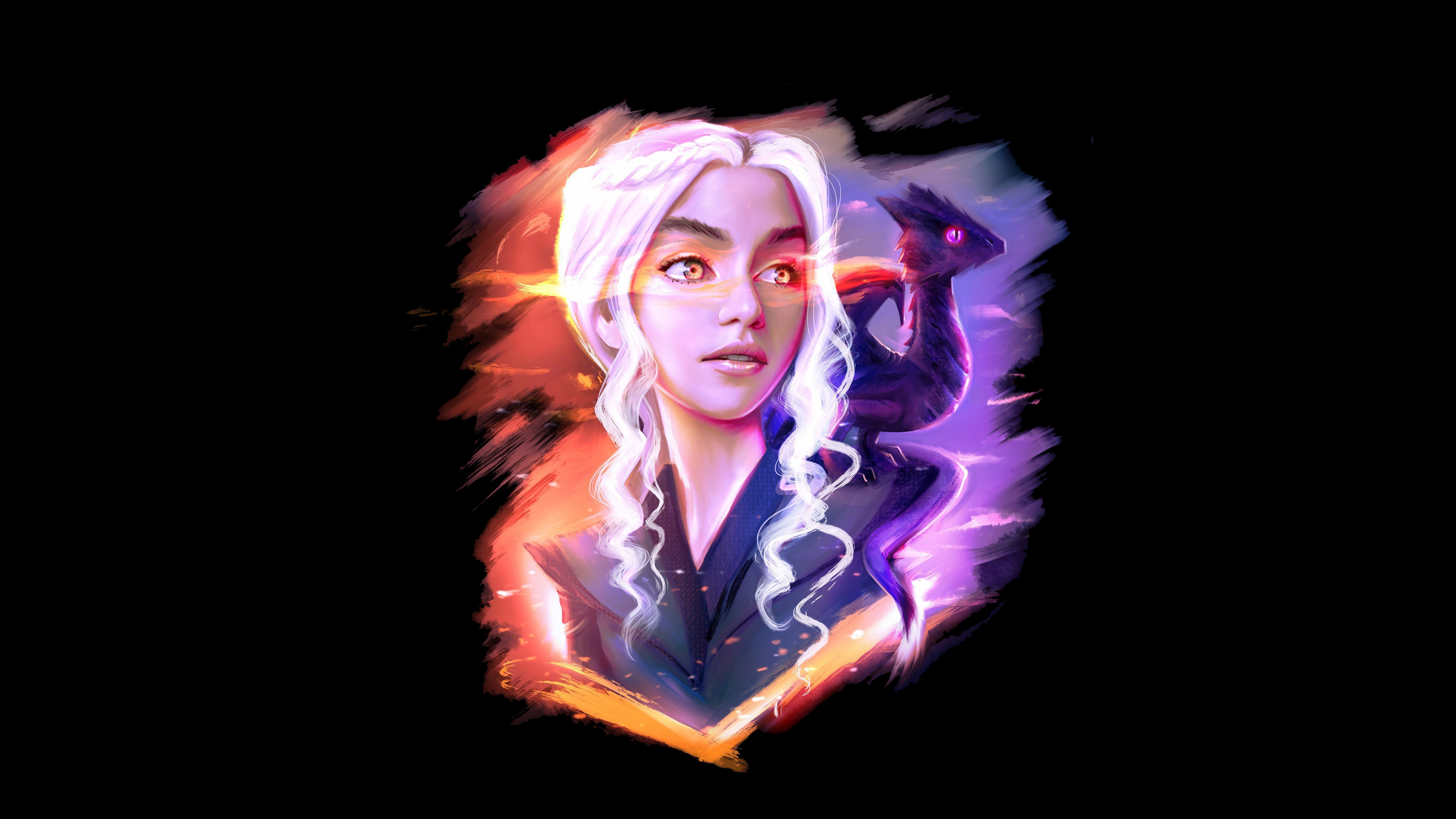 2048x2048 Game Girl Pubg 4k Ipad Air Hd 4k Wallpapers: 2048x2048 Daenerys Targaryen And Dragon Fan Art Ipad Air