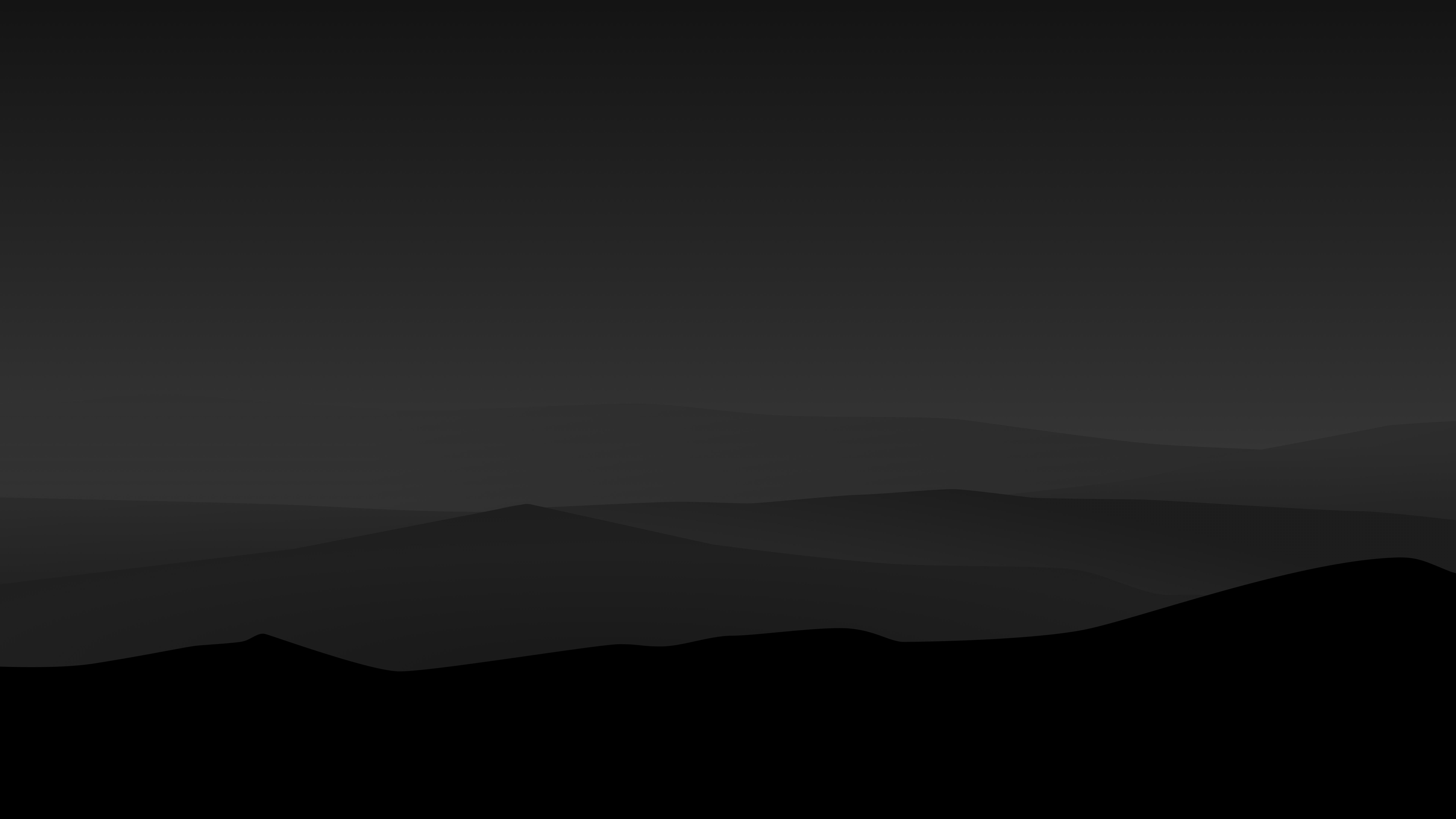 Dark Night Mountains Minimalist 4k, HD Artist, 4k ...