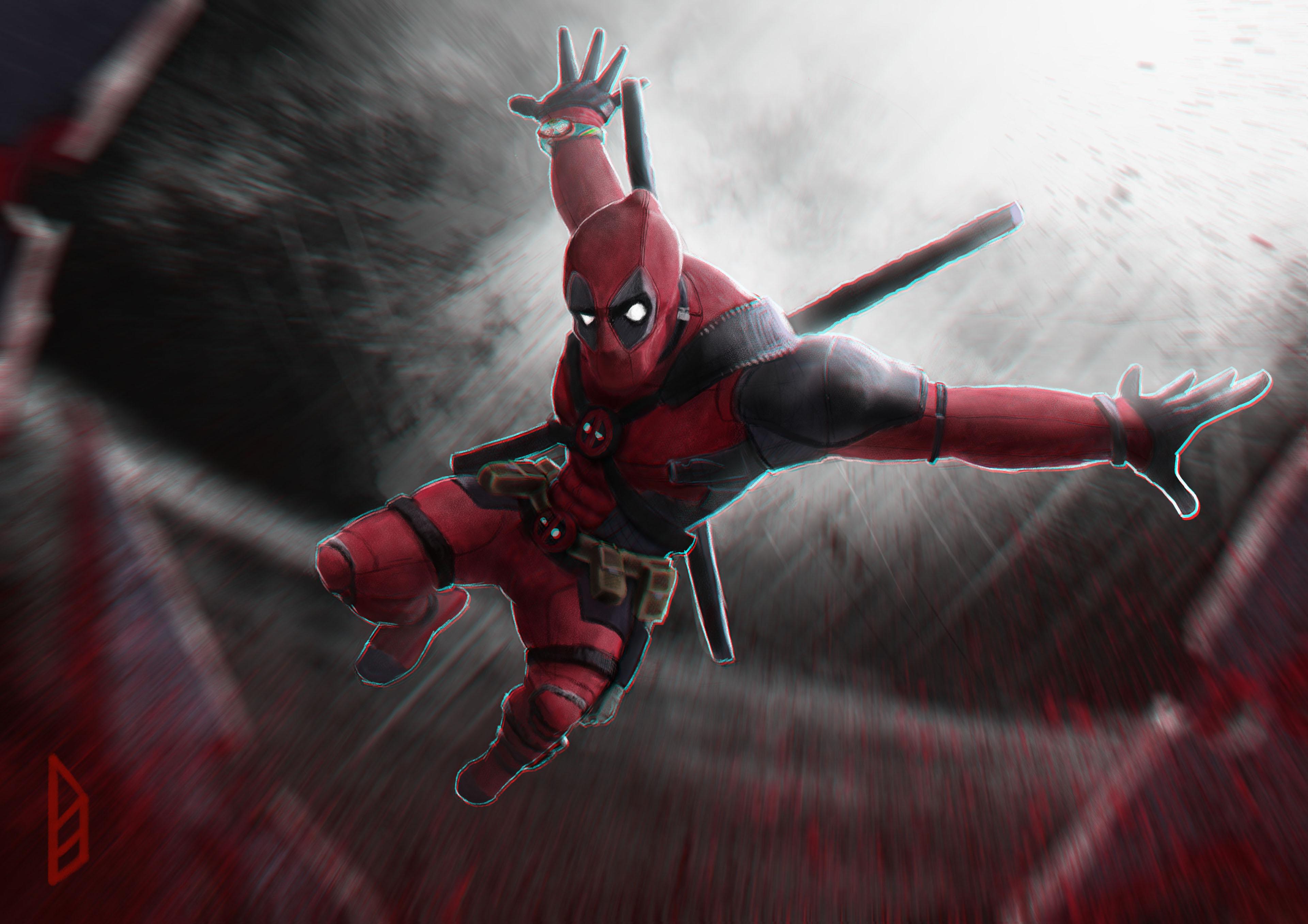 Deadpool 4k New Art, HD Superheroes, 4k Wallpapers, Images ...