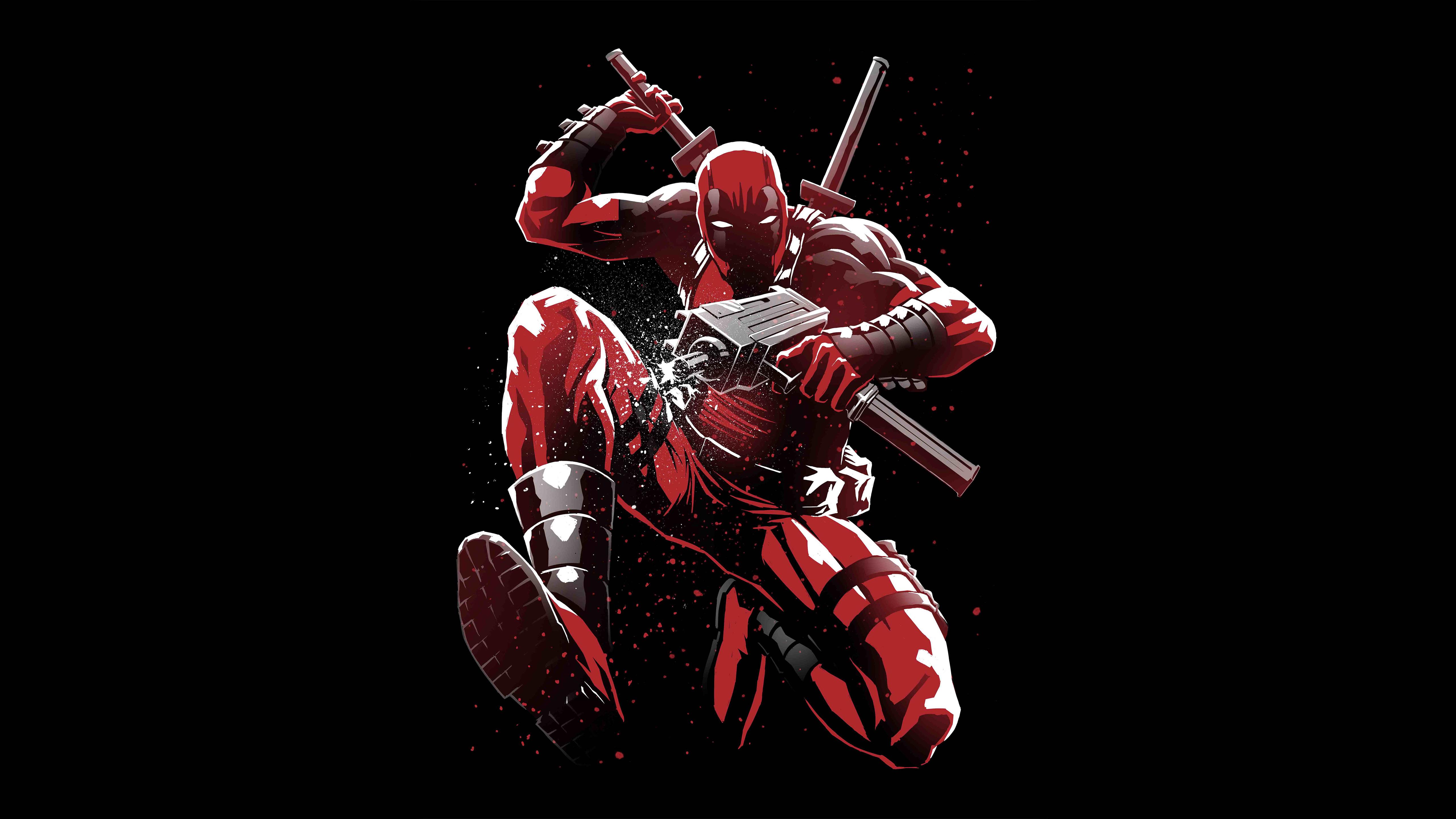 Deadpool 5K Artwork, HD Superheroes, 4k Wallpapers, Images